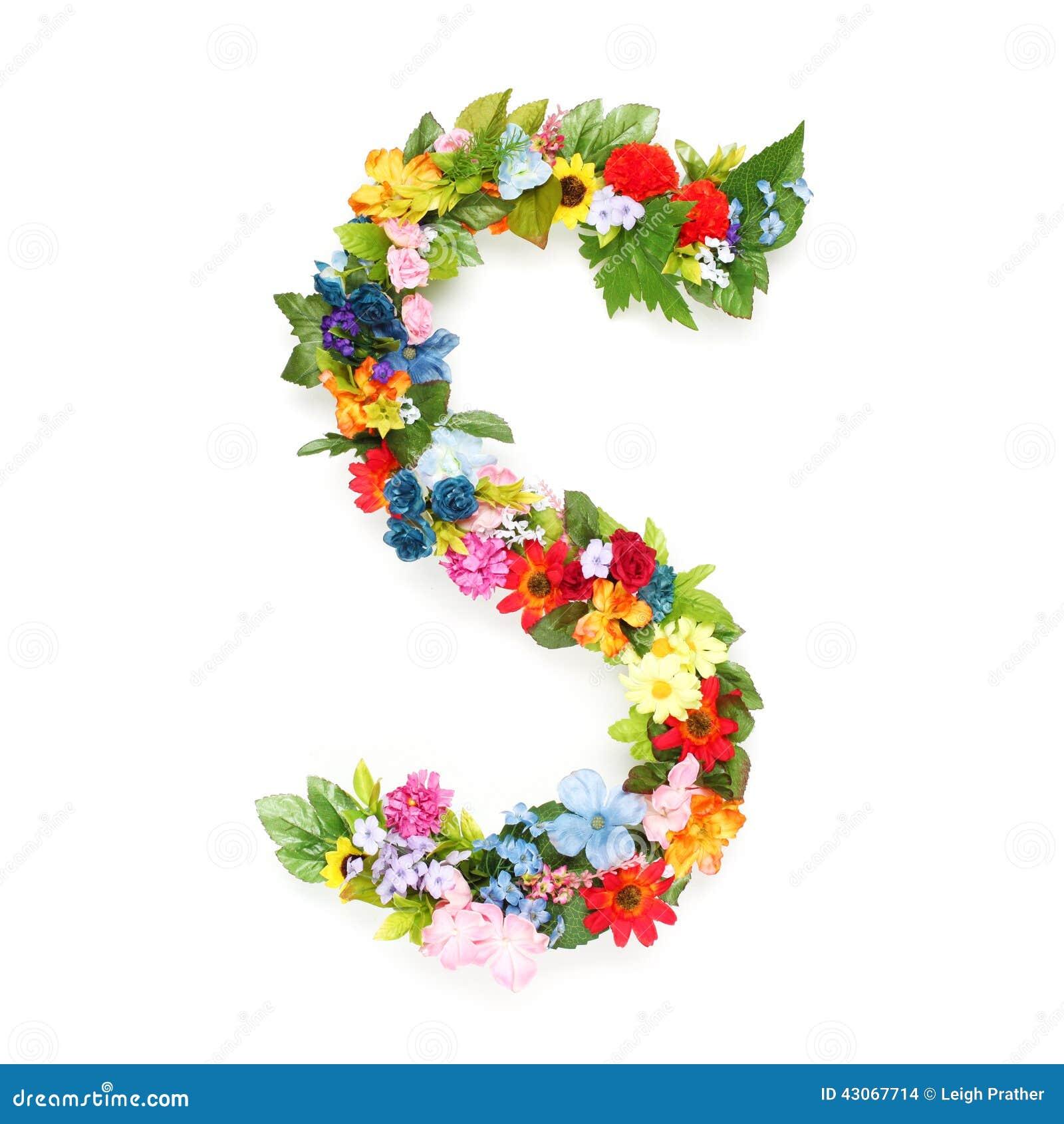 lettres des feuilles et des fleurs photo stock image du lame effectu 43067714. Black Bedroom Furniture Sets. Home Design Ideas