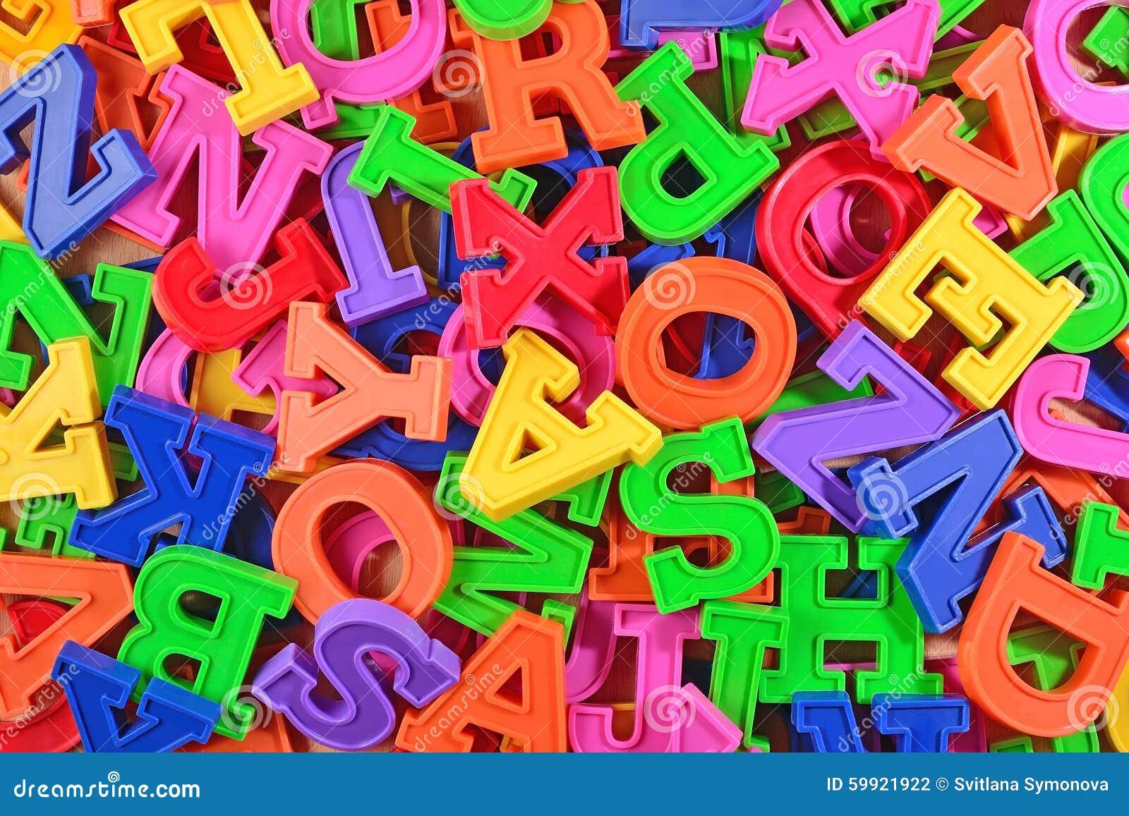 Lettres en plastique color es d 39 alphabet comme fond photo stock image 59921922 - Pot en 3 lettres ...