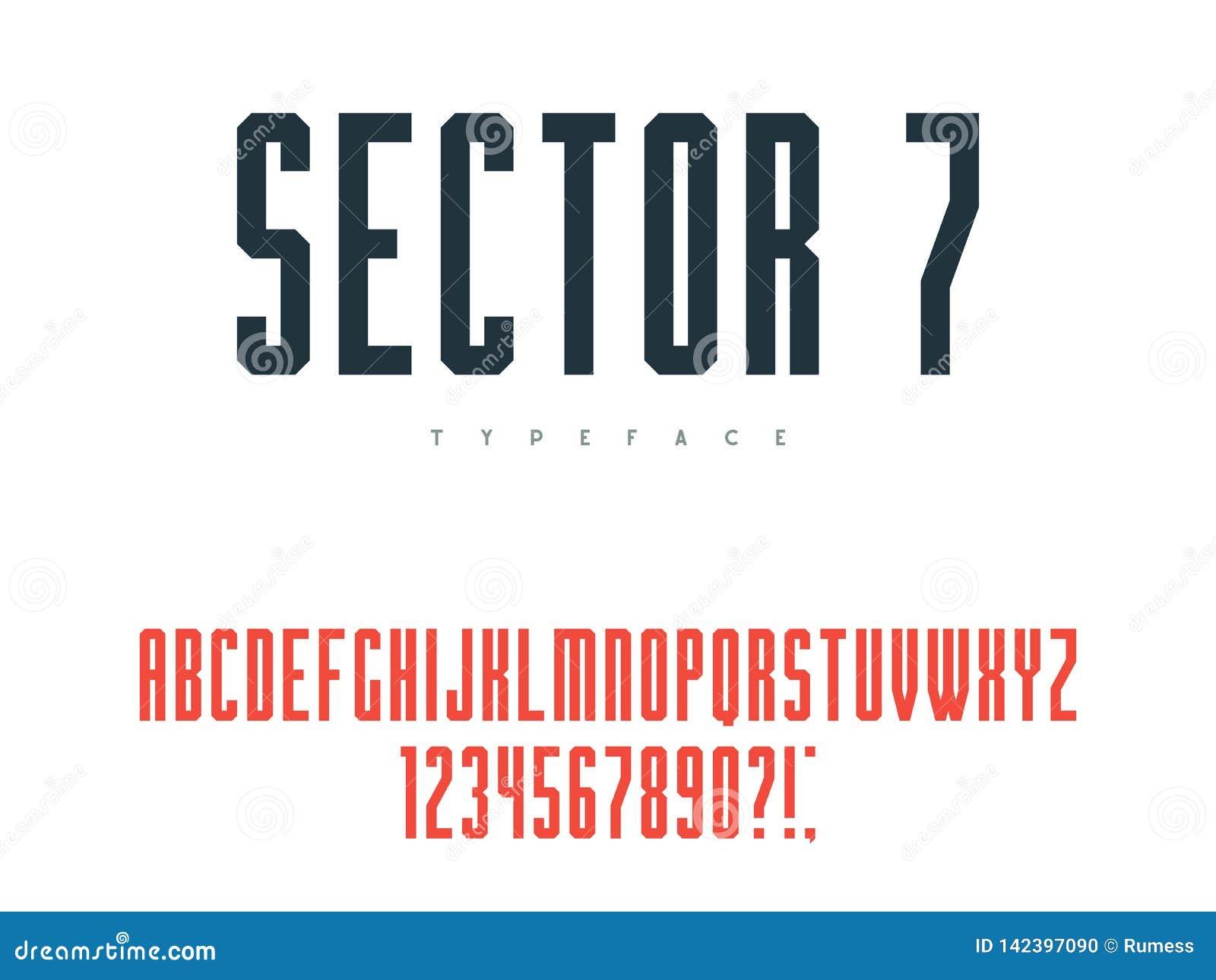 Lettres et nombres majuscules latins d alphabet Illustration de vecteur