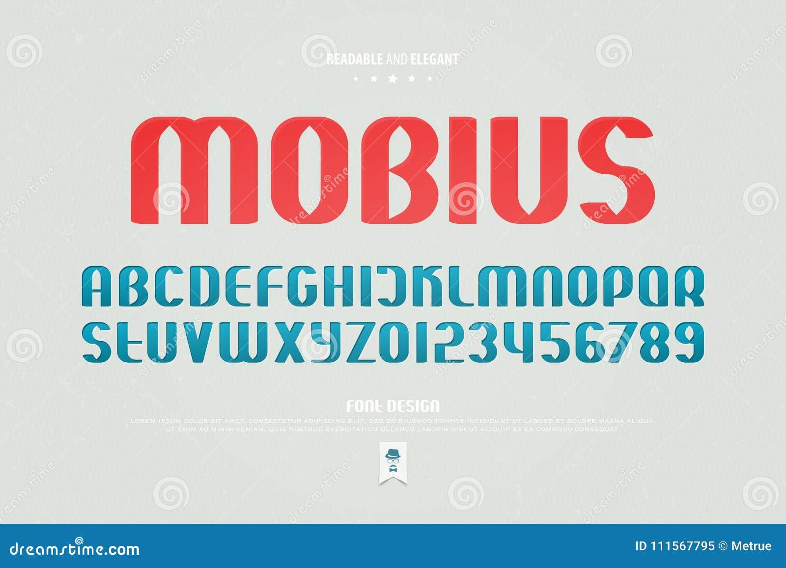 Lettres et nombres urbains d alphabet de style , type lisible conception de police