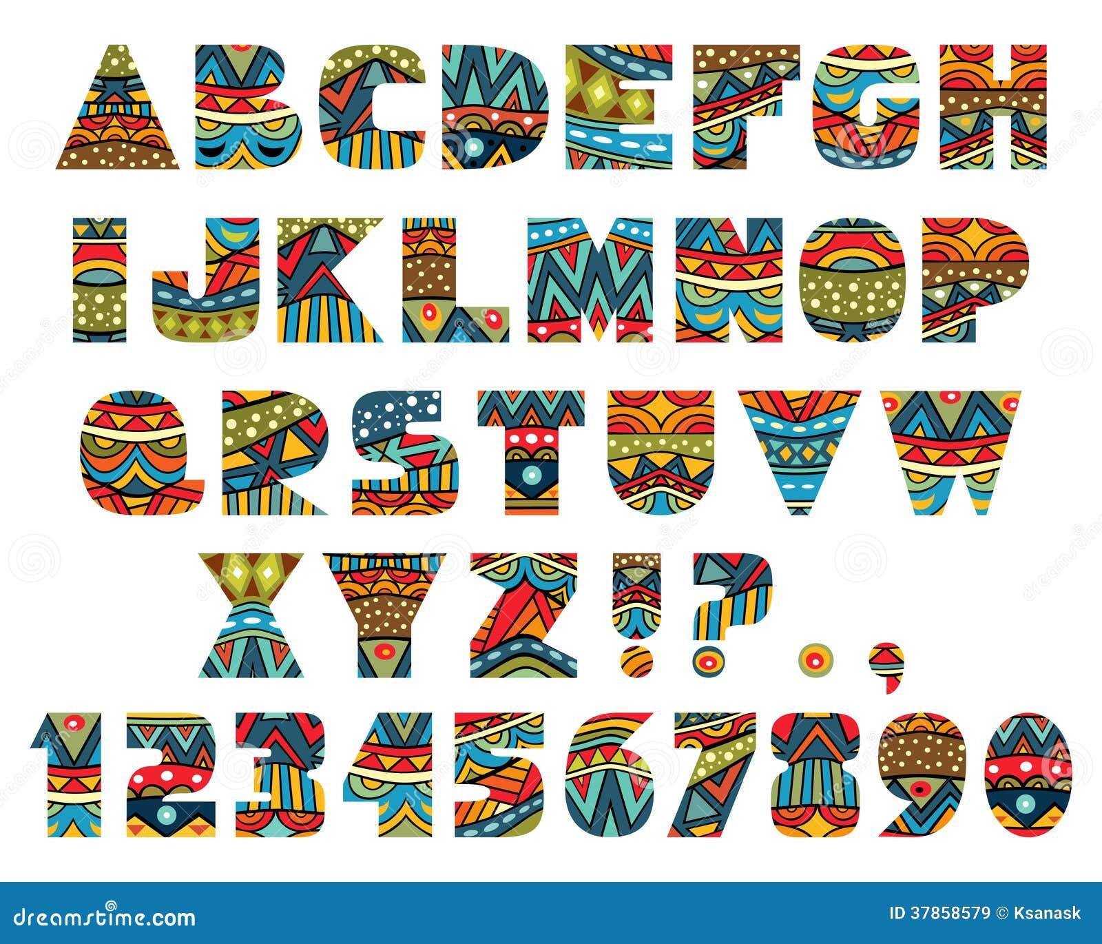 Lettres Fleuries Lettering Capital Doodle