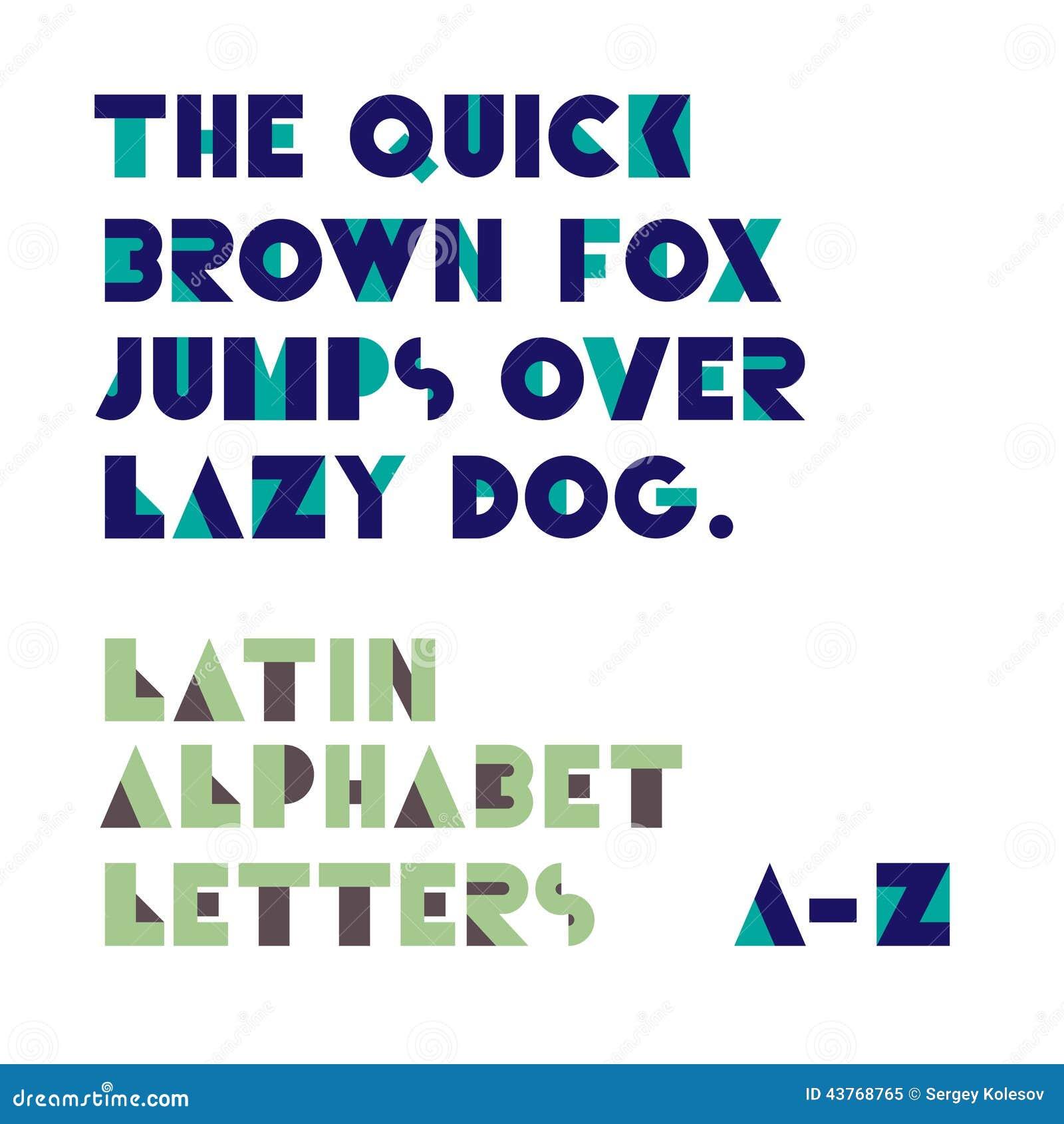 Lettres géométriques d alphabet de formes Rétro fonte Alphabet latin le