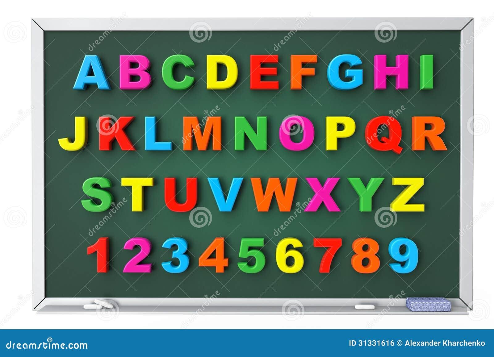 Lettres magn tiques de jouet d 39 alphabet au dessus de - Jouet alphabet ...