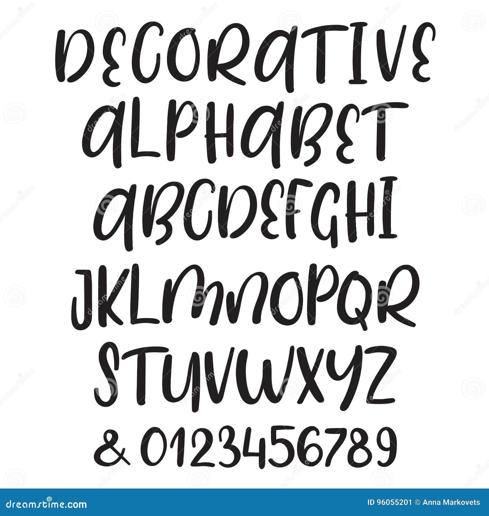 Lettres tirées par la main de majuscule et minuscule d ABC de vecteur d encre de brosse réglées Police comique de griffonnage pou