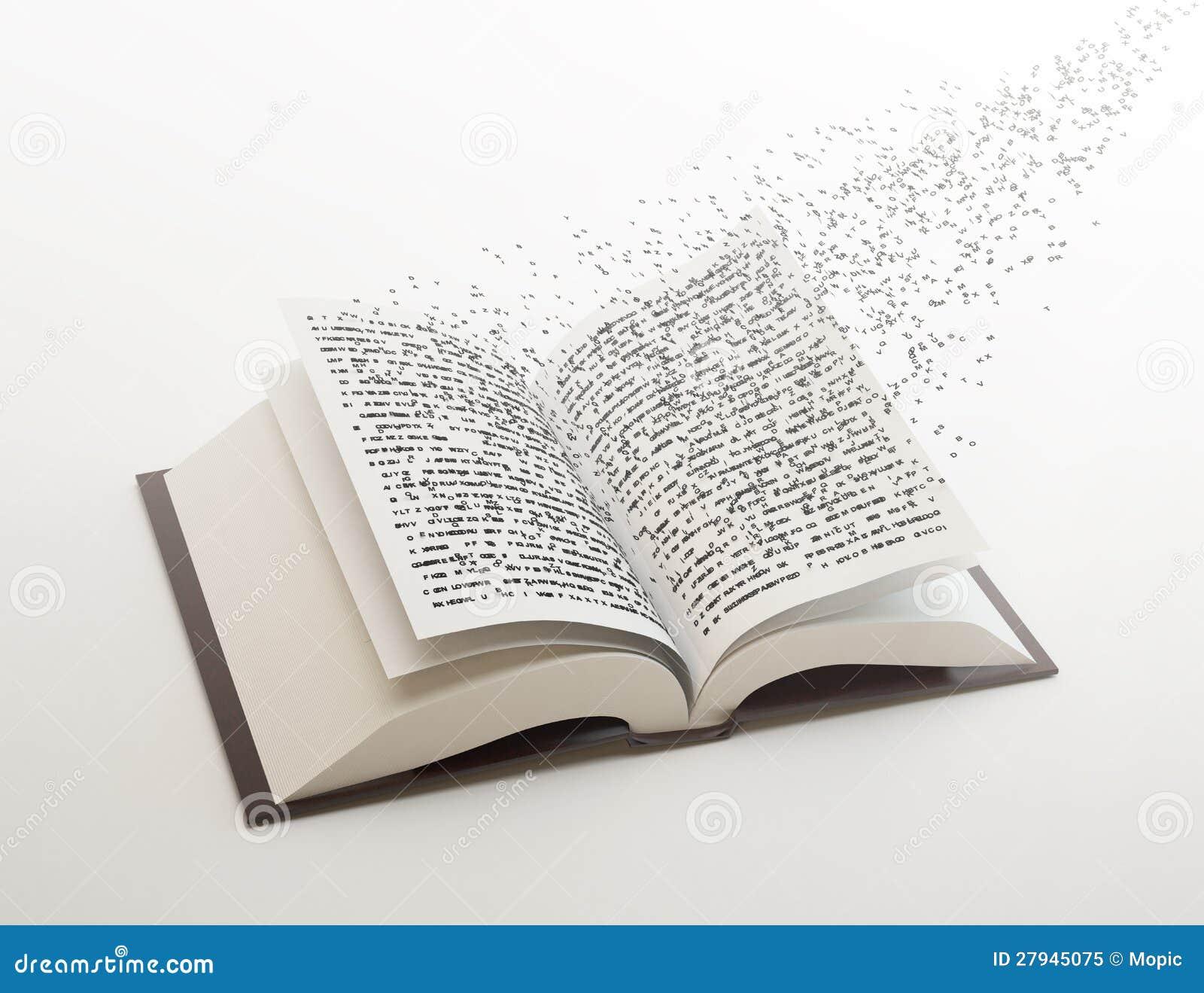 Lettres Volant Hors D Un Livre Illustration Stock