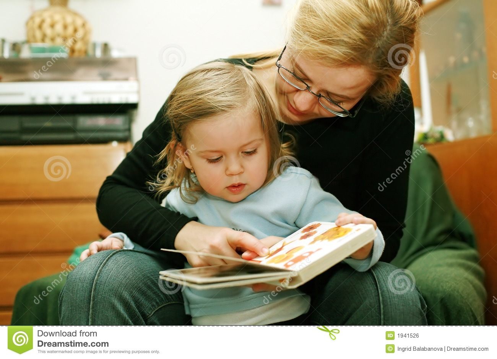 Lettura del bambino e della madre