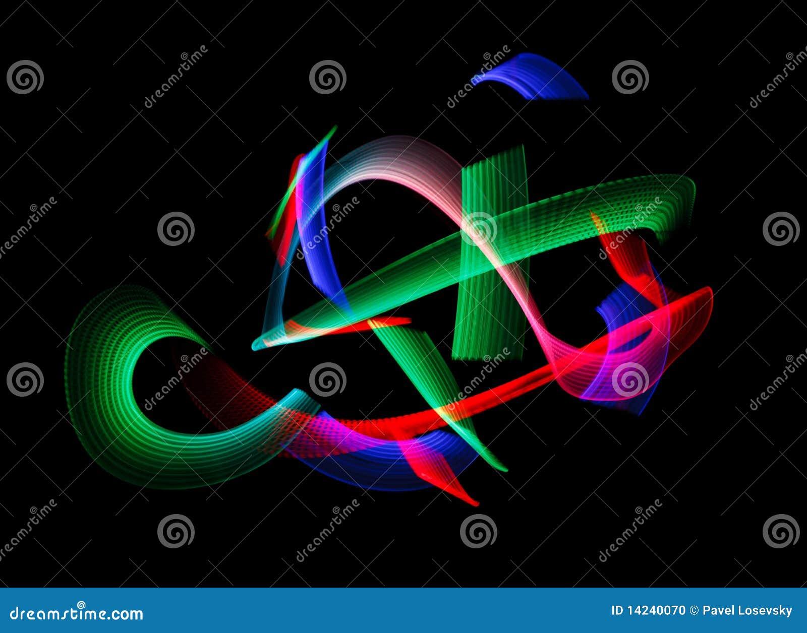leuchtende farben des regenbogens schleppen auf schwarzem stockfoto bild 14240070. Black Bedroom Furniture Sets. Home Design Ideas