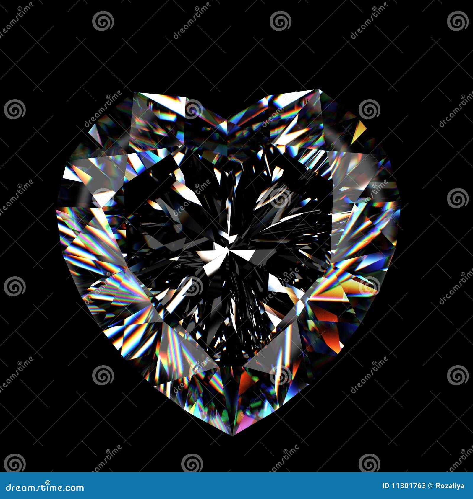 Leuchtender Diamant des Schnittes 3d