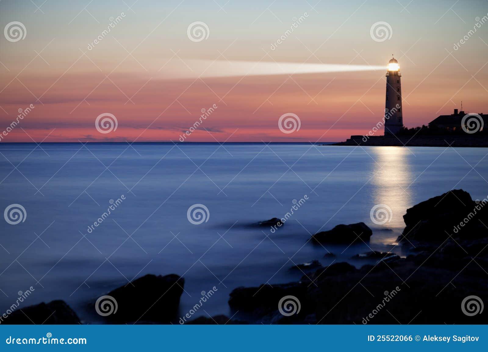 Leuchtturm auf der Küste