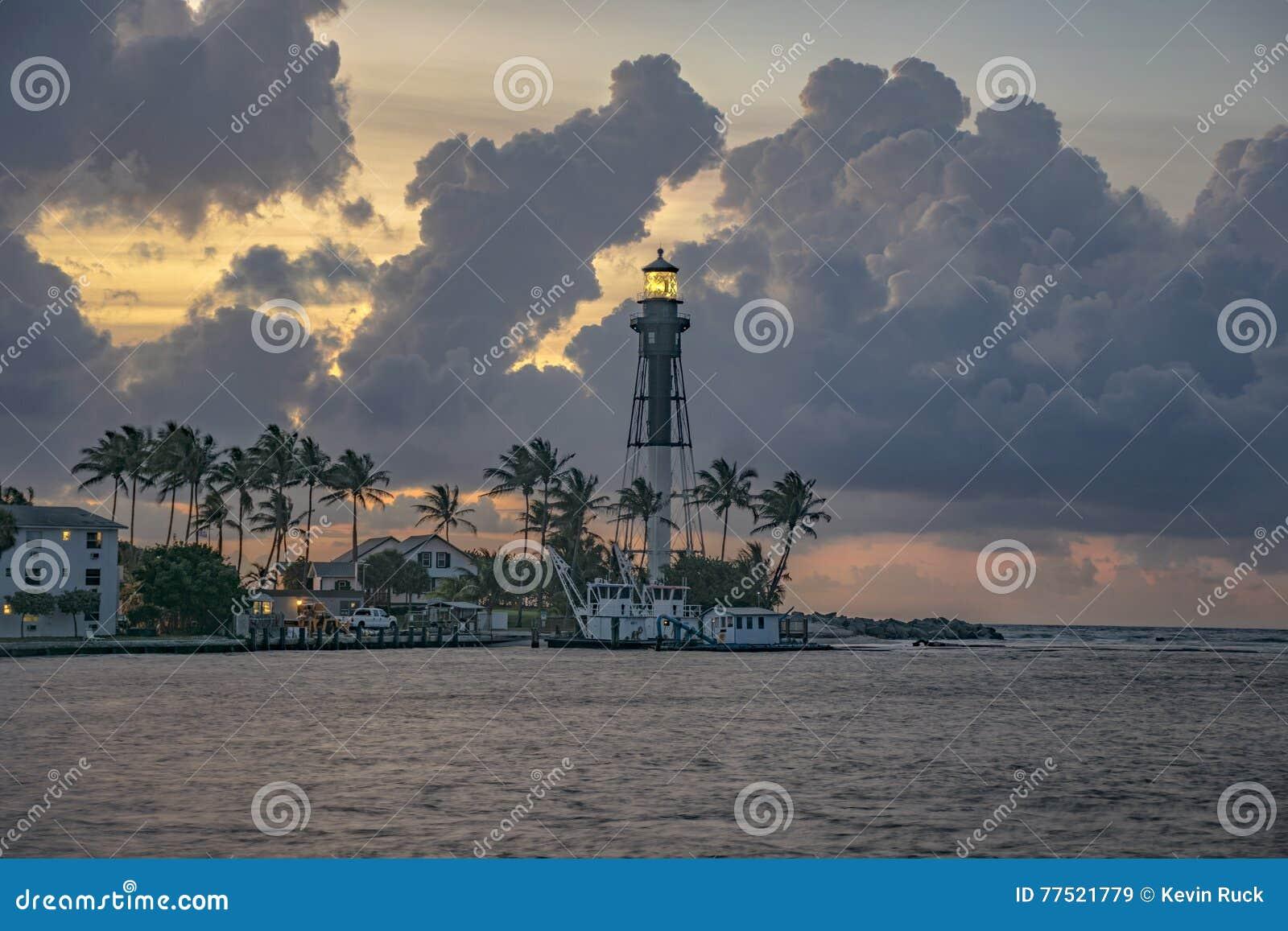 Leuchtturm-Punkt-Sonnenaufgang