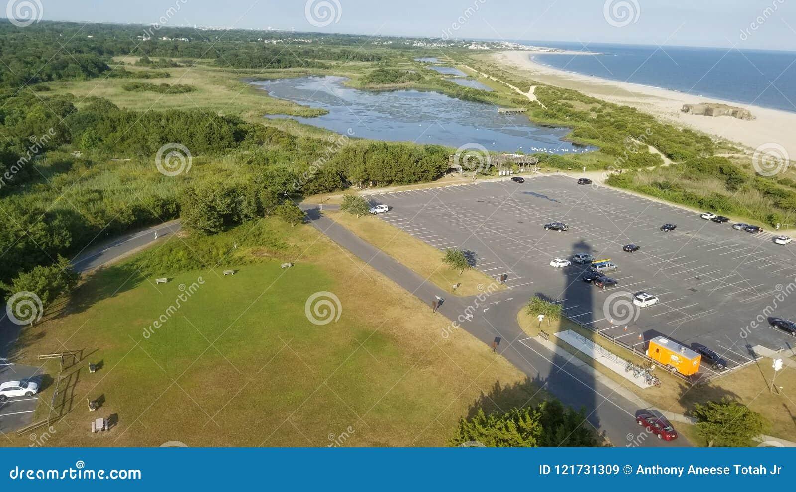 Leuchtturmschatten - Cape May Punkt, New-Jersey