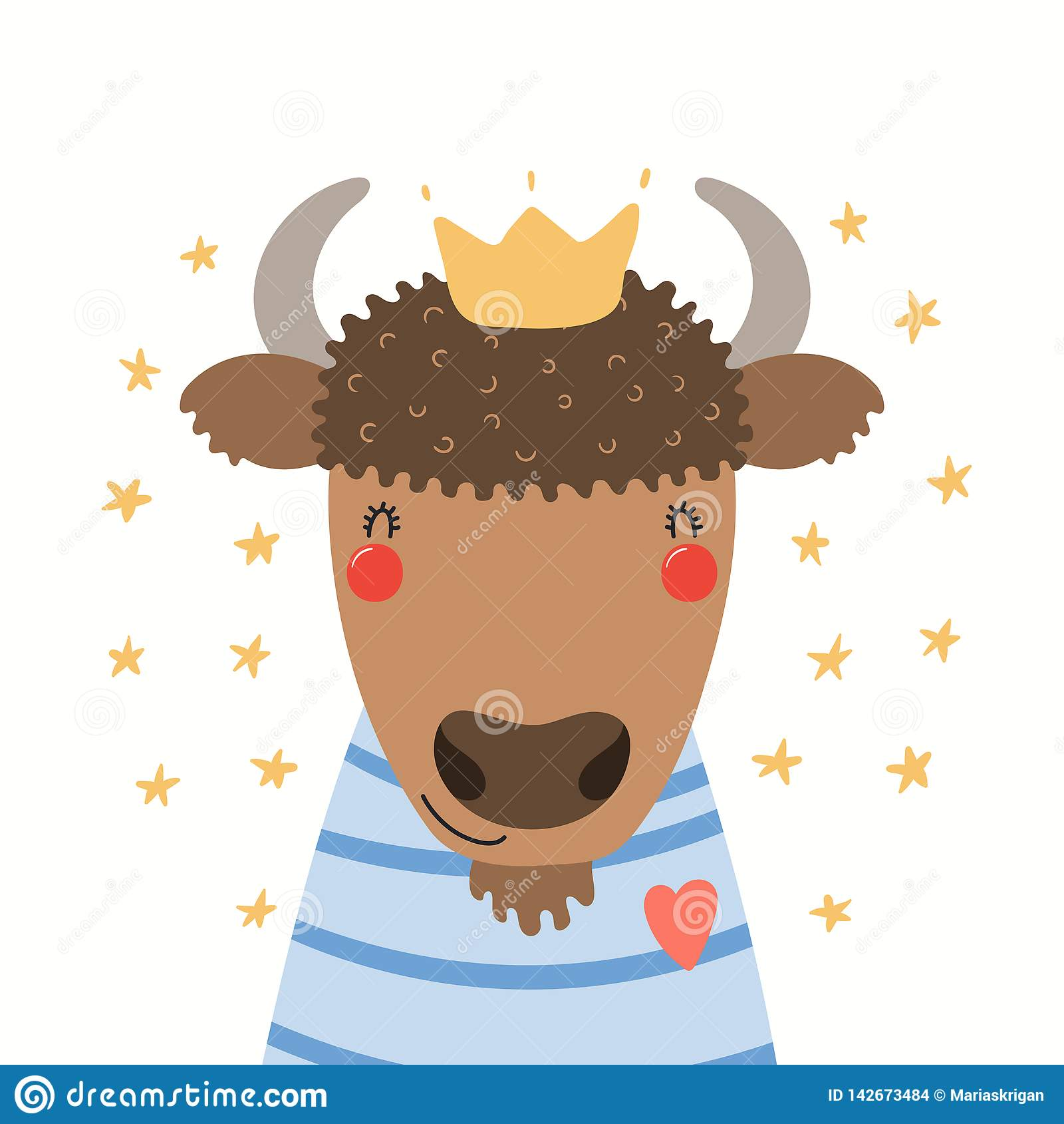 Leuk bizonportret