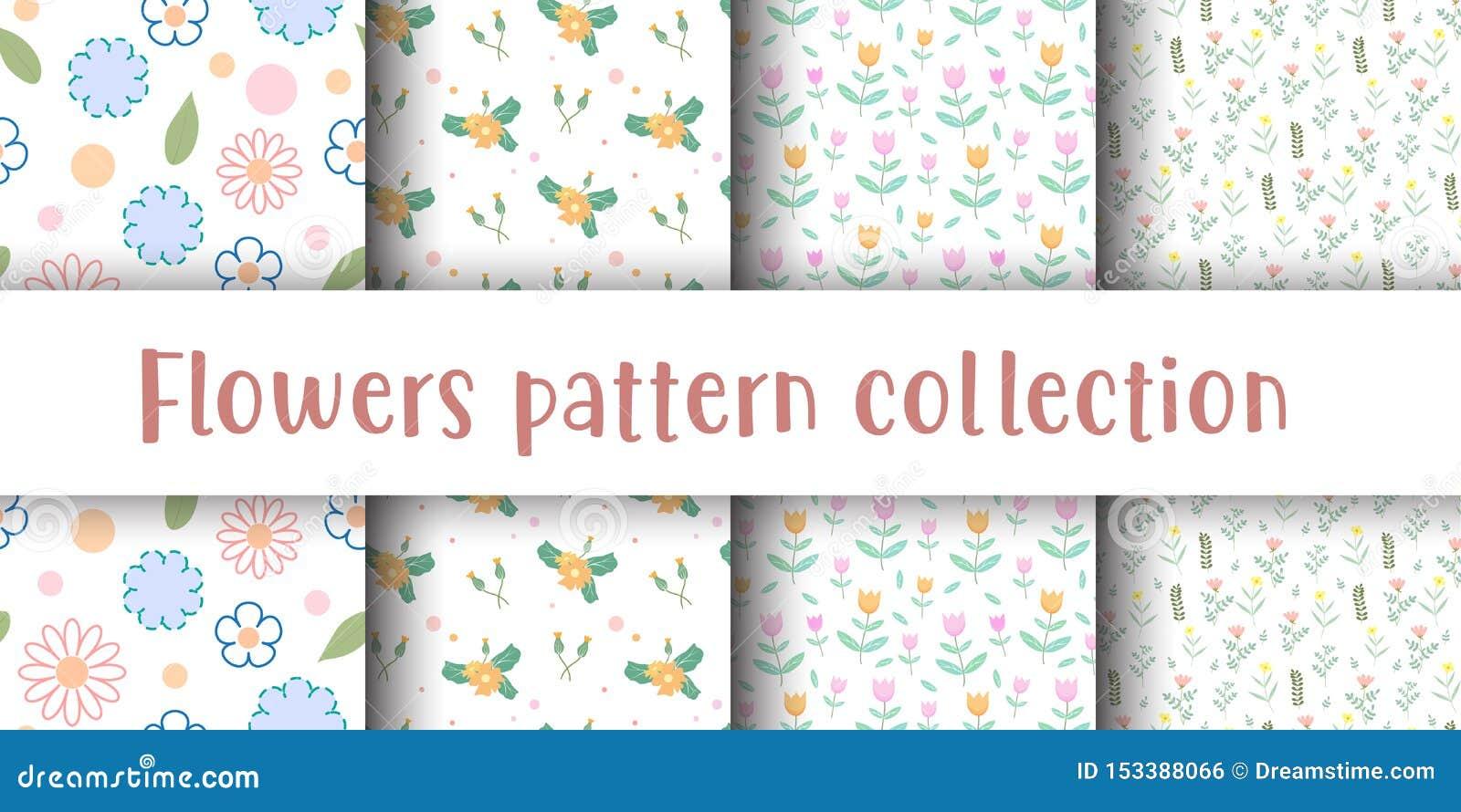 Leuk bloem naadloos patroon