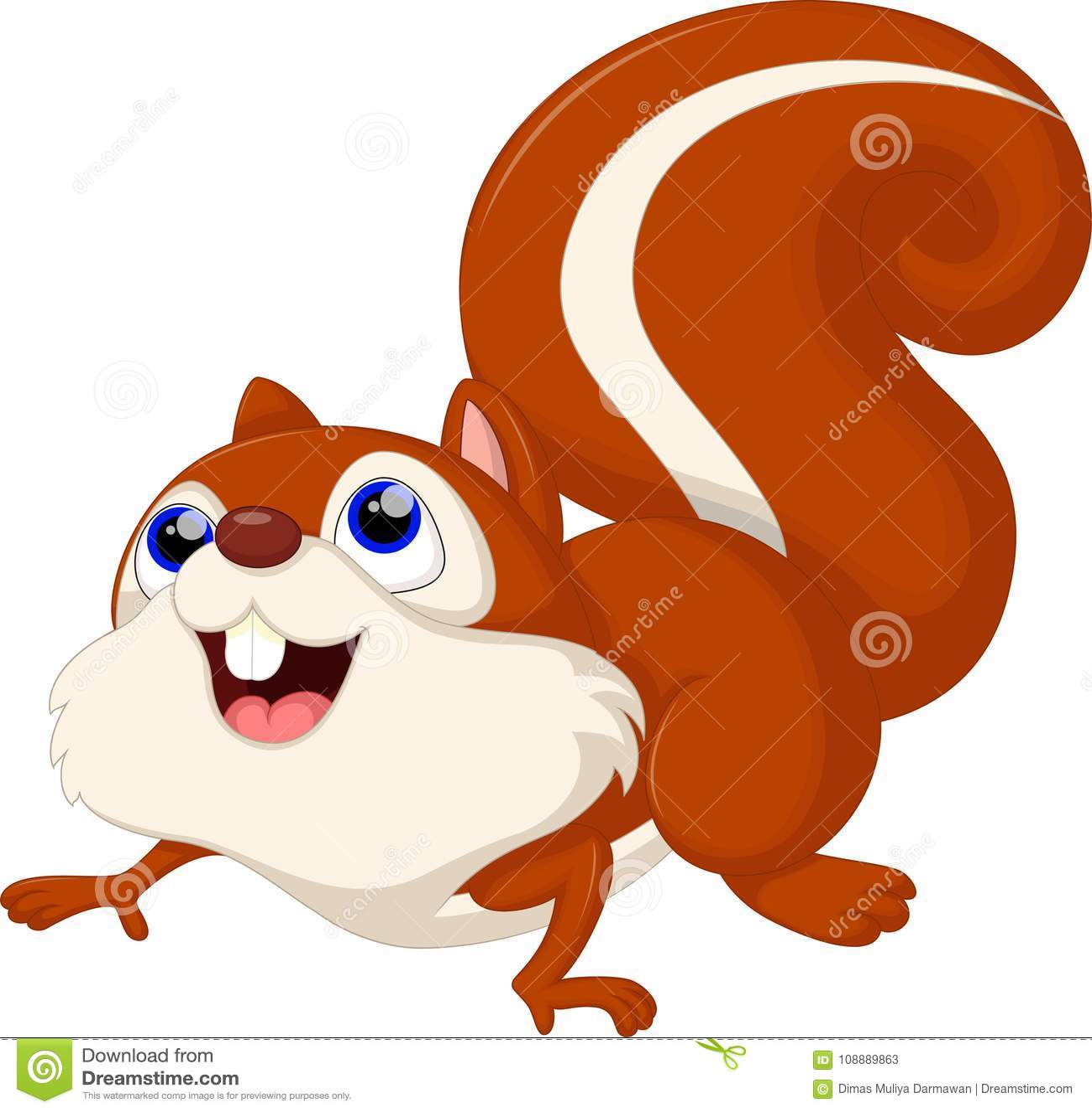 Leuk eekhoornbeeldverhaal Aardeekhoorn, kleur