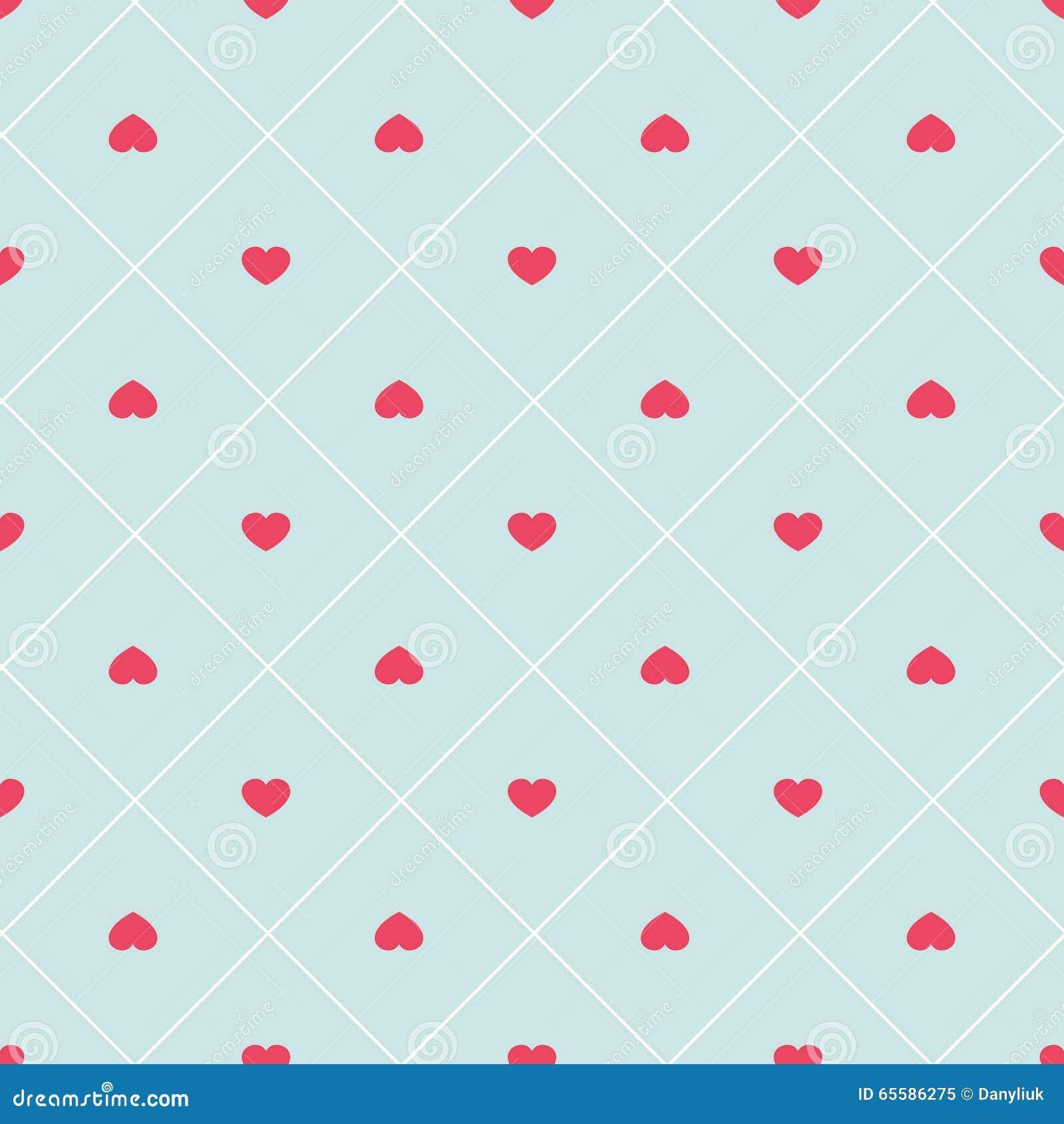Leuk retro abstract hart naadloos patroon kan voor behang worden gebruikt vult de dekking web - Behang patroon voor de slaapkamer ...