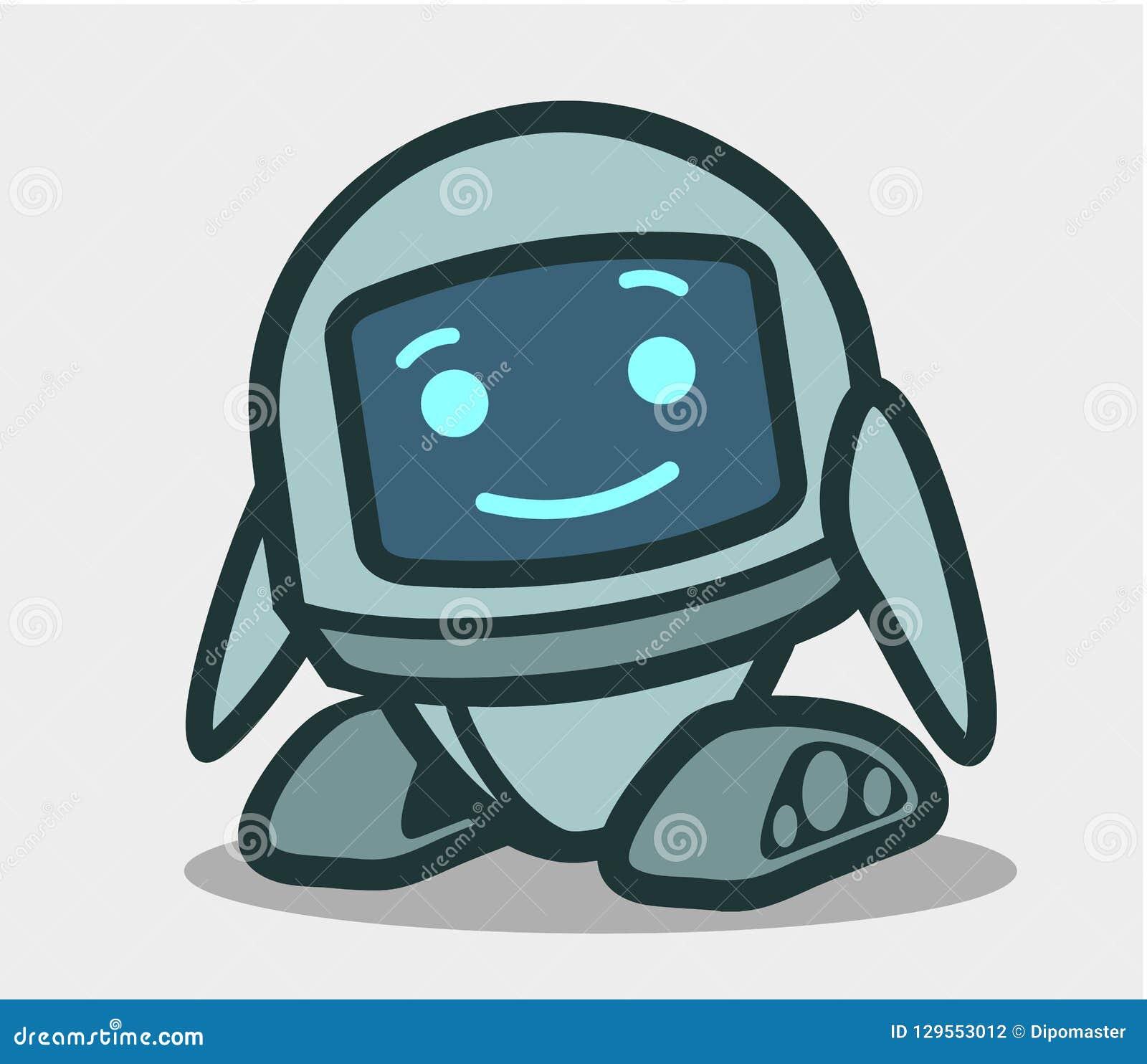 Leuk robot geanimeerd karakter voor ontwerp