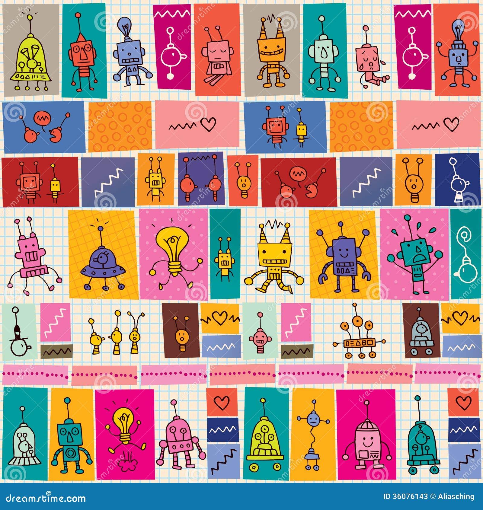 Leuk robotspatroon