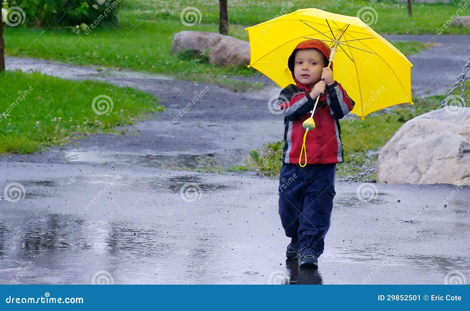 Het spelen in de regen