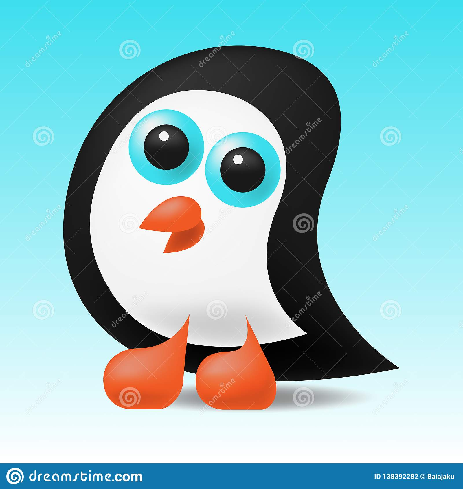 Leuk weinig pinguïnillustratie
