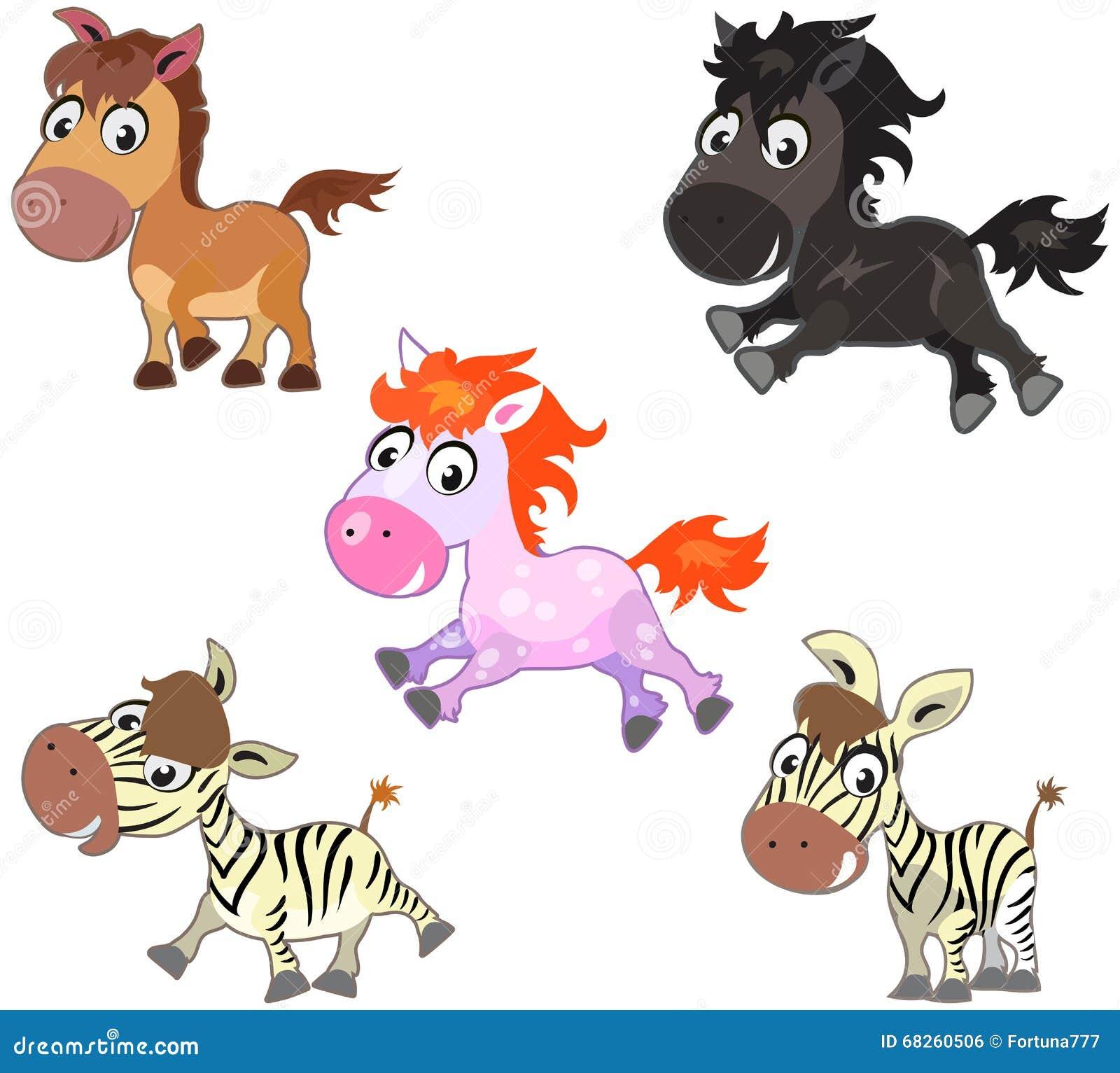 Leuke beeldverhaalpaarden
