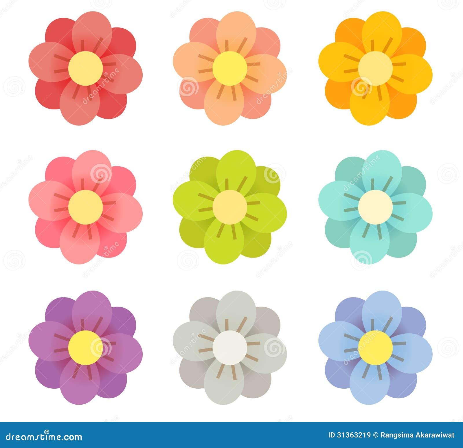 Leuke Bloemen stock illustratie. Afbeelding bestaande uit ...