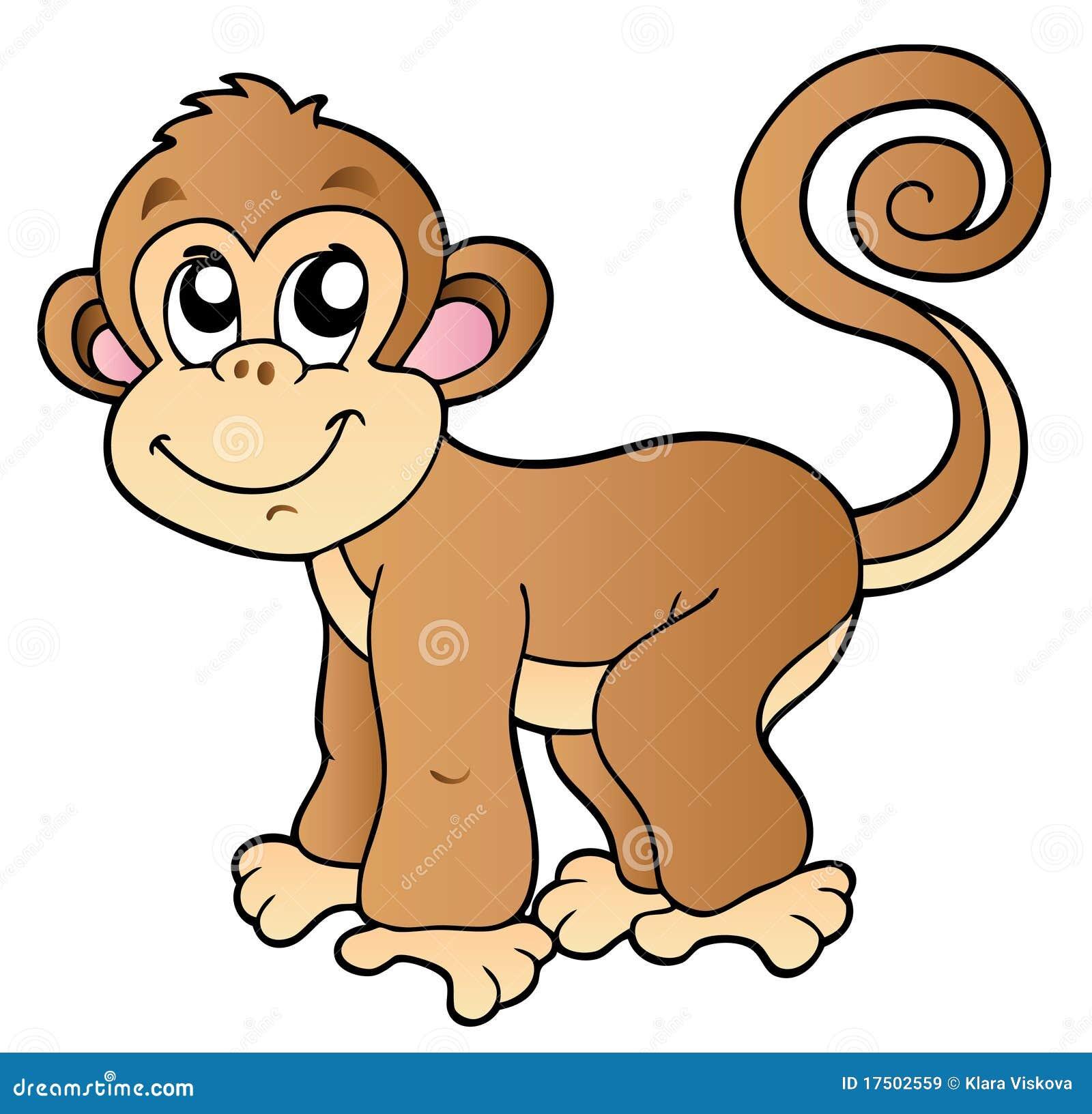 Royalty vrije stock afbeeldingen leuke kleine aap