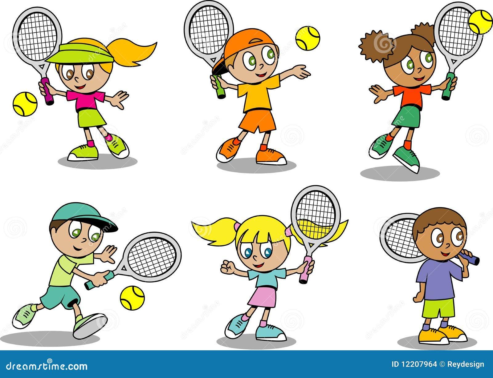 Leuke tennisJonge geitjes