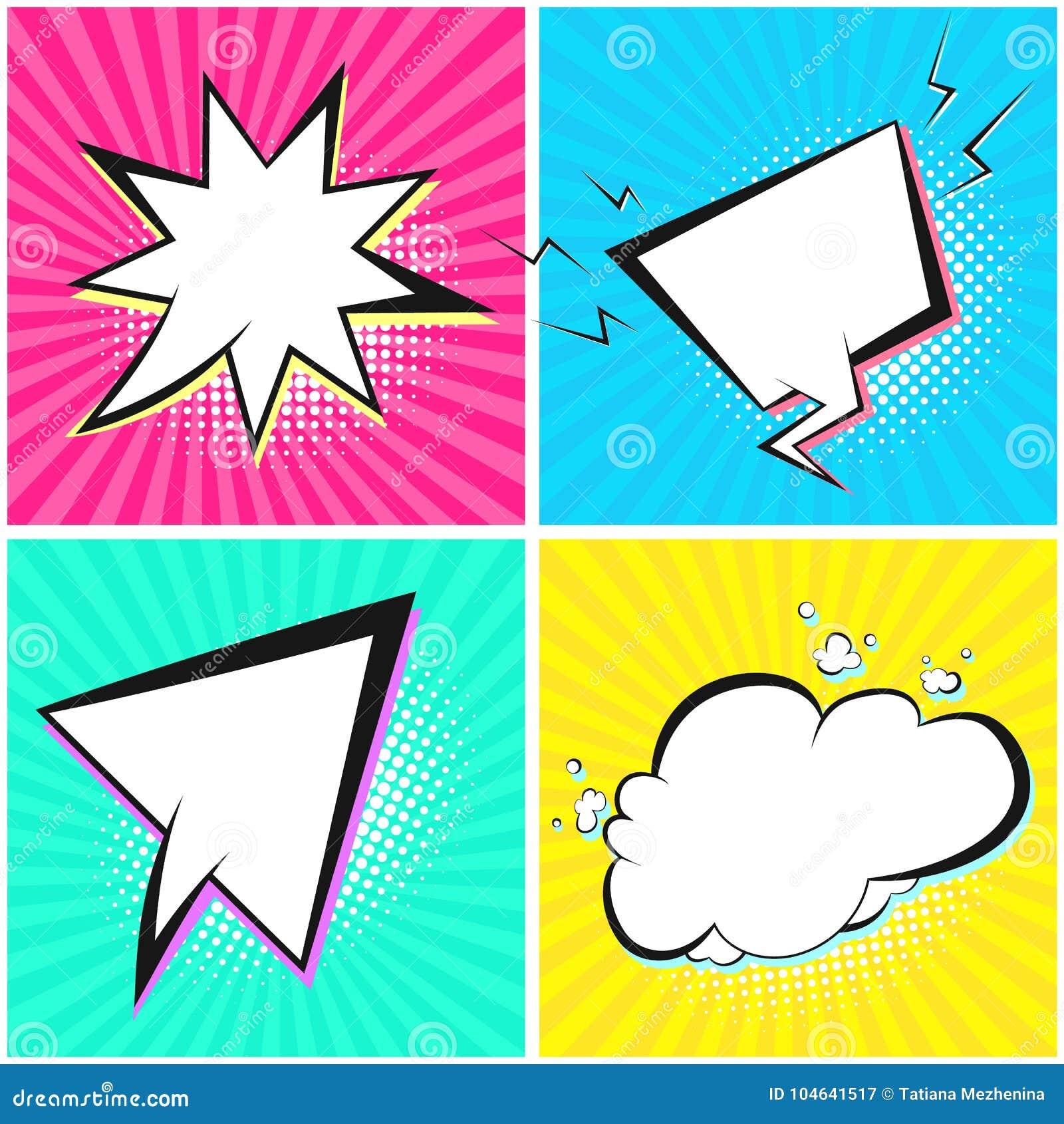 Download Leuke Toespraakbellen Op Tedere Gestreepte Achtergrond Stock Illustratie - Illustratie bestaande uit kleur, reeks: 104641517
