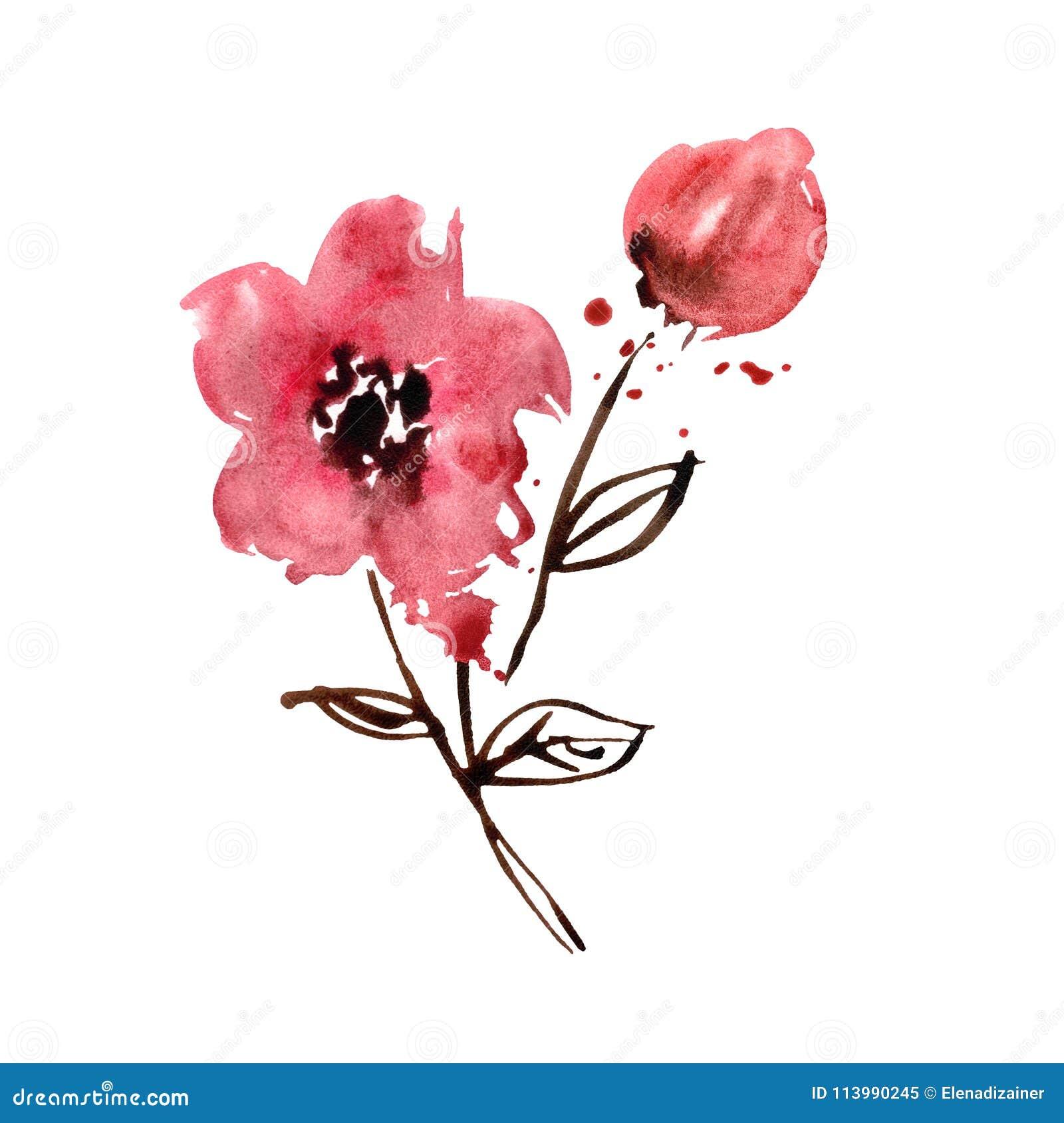 Leuke waterverfhand geschilderde bloemen uitnodiging de for Leuke versiering