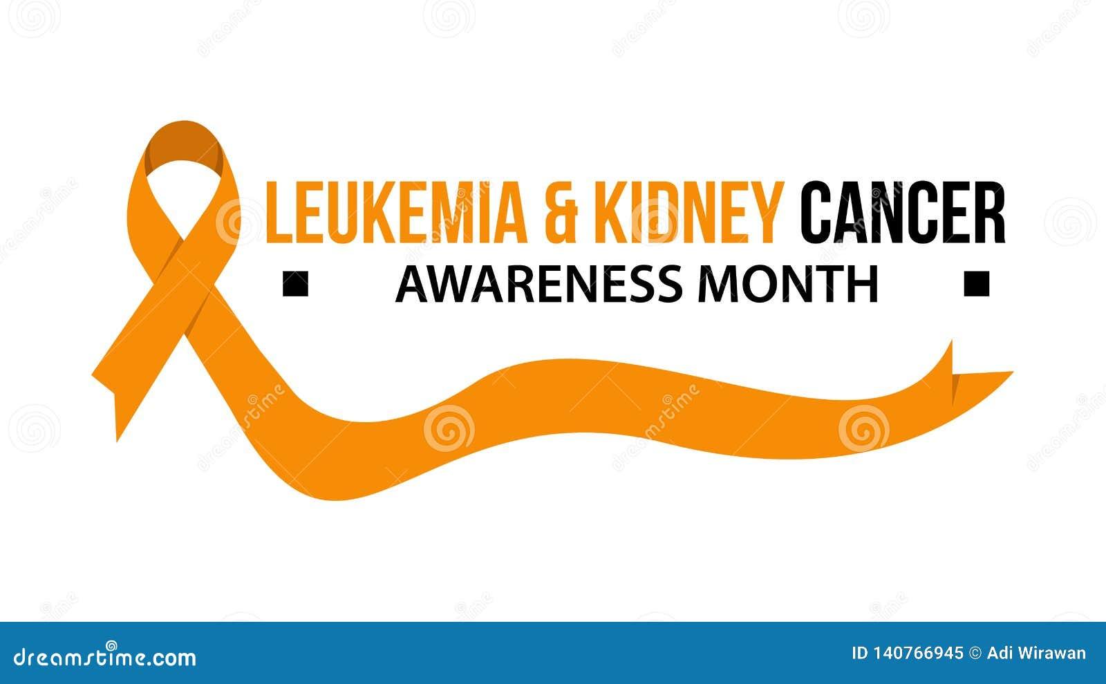 Leukemia Kidney Cancer Awareness Vector Illustration Stock Vector Illustration Of Lung Leukemia 140766945