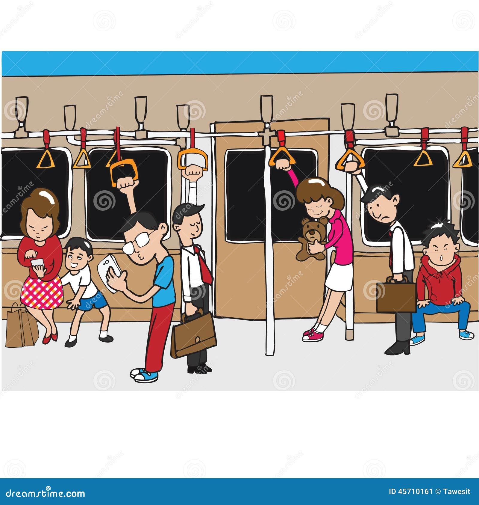 Leute auf U-Bahn