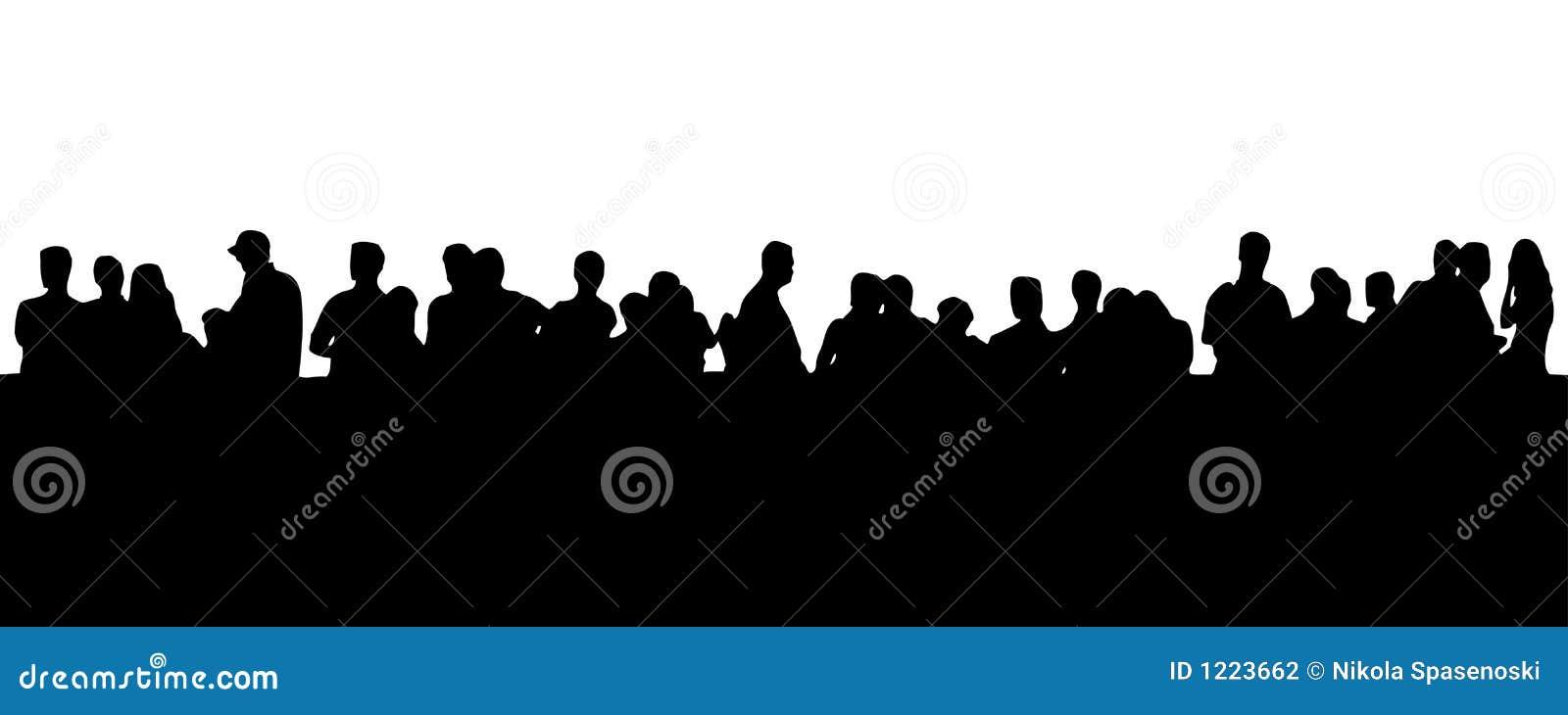 Leute in der Zeile (ENV-Format vorhanden)