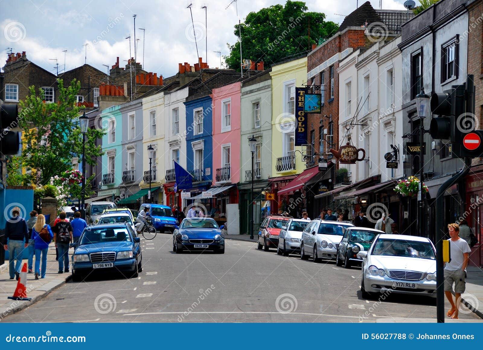 leute die in notting hill london kaufen redaktionelles stockfoto bild von sommer k nigreich. Black Bedroom Furniture Sets. Home Design Ideas