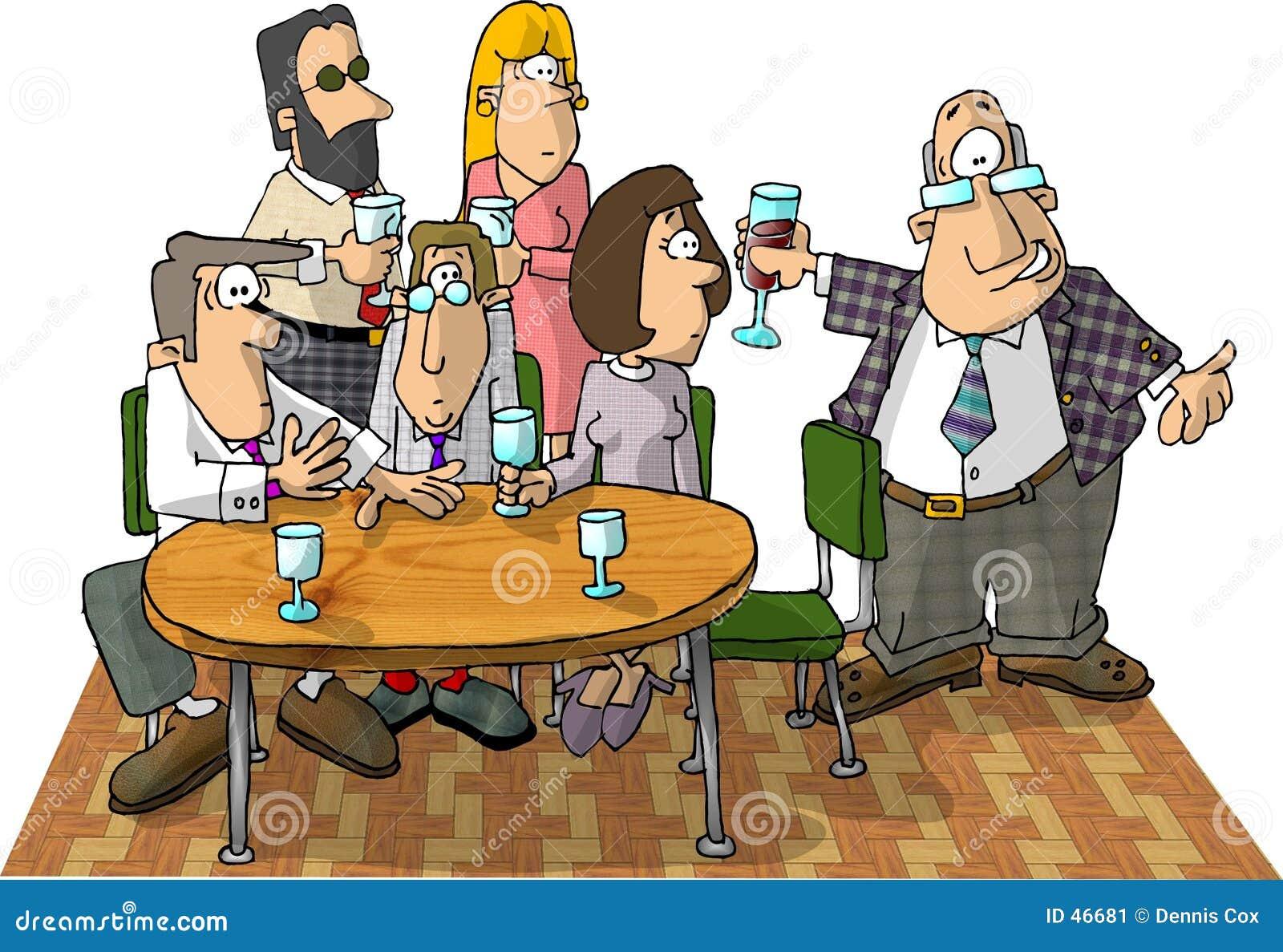 Leute an einem Partytrinken