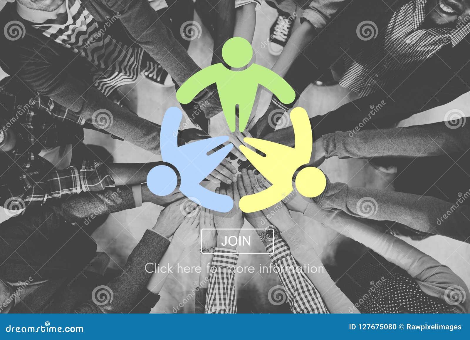 Leute-Gemeinschaftsgesellschafts-globales Konzept