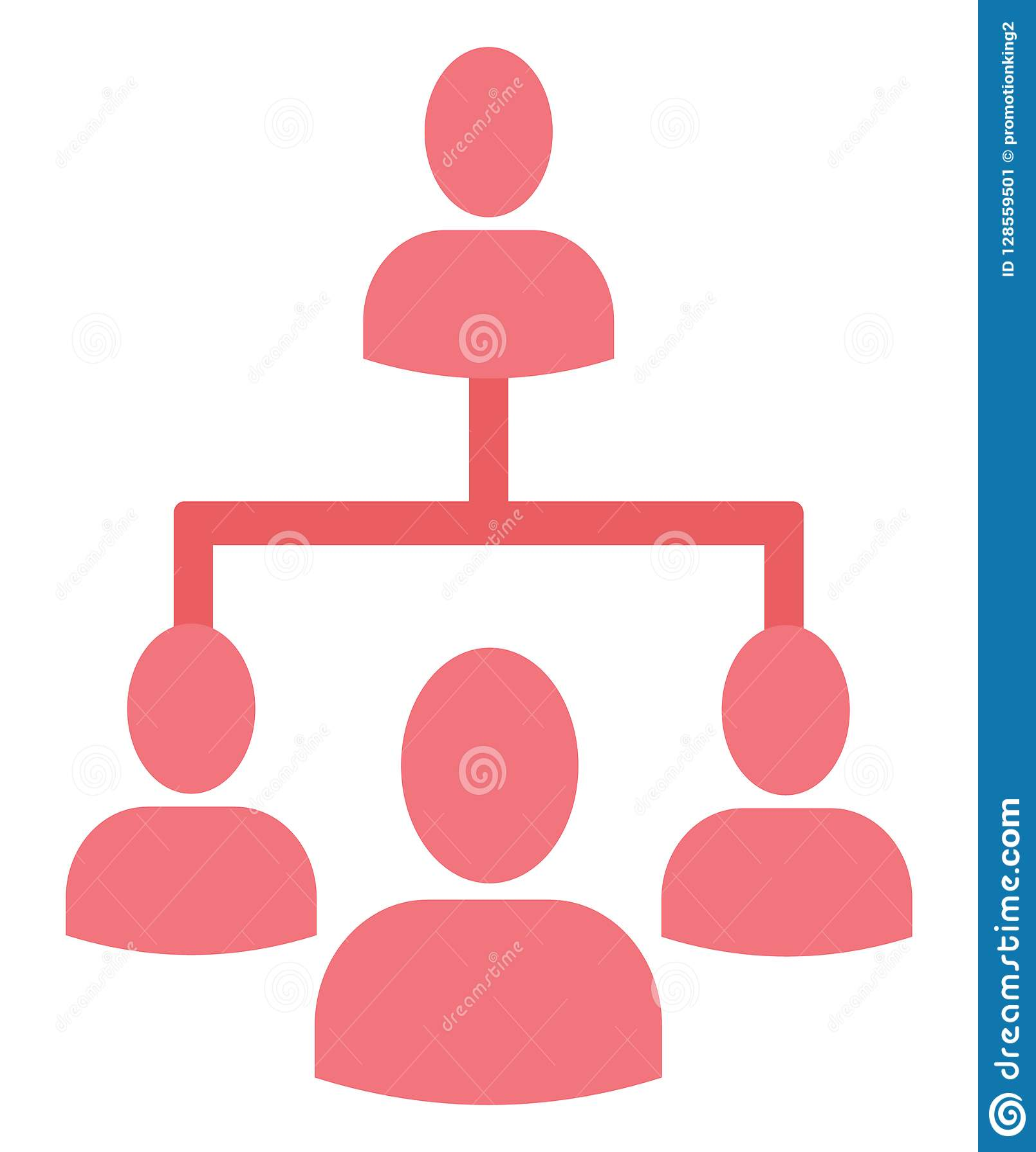 Leute-Hierarchie lokalisierte Vektorikone, die leicht sein kann redigieren oder änderte