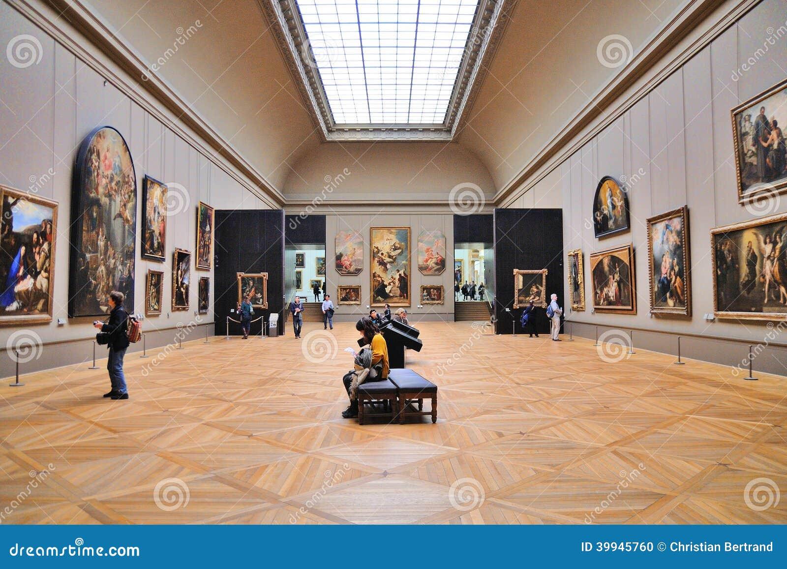 Leute Innerhalb Des Louvre-Museums (Musee Du Louvre) Redaktionelles ...
