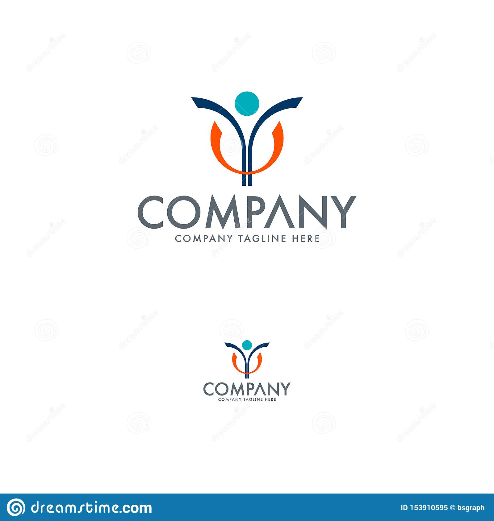 Leute-Logo Human Logo Education Logo-Grundlagen-Logo