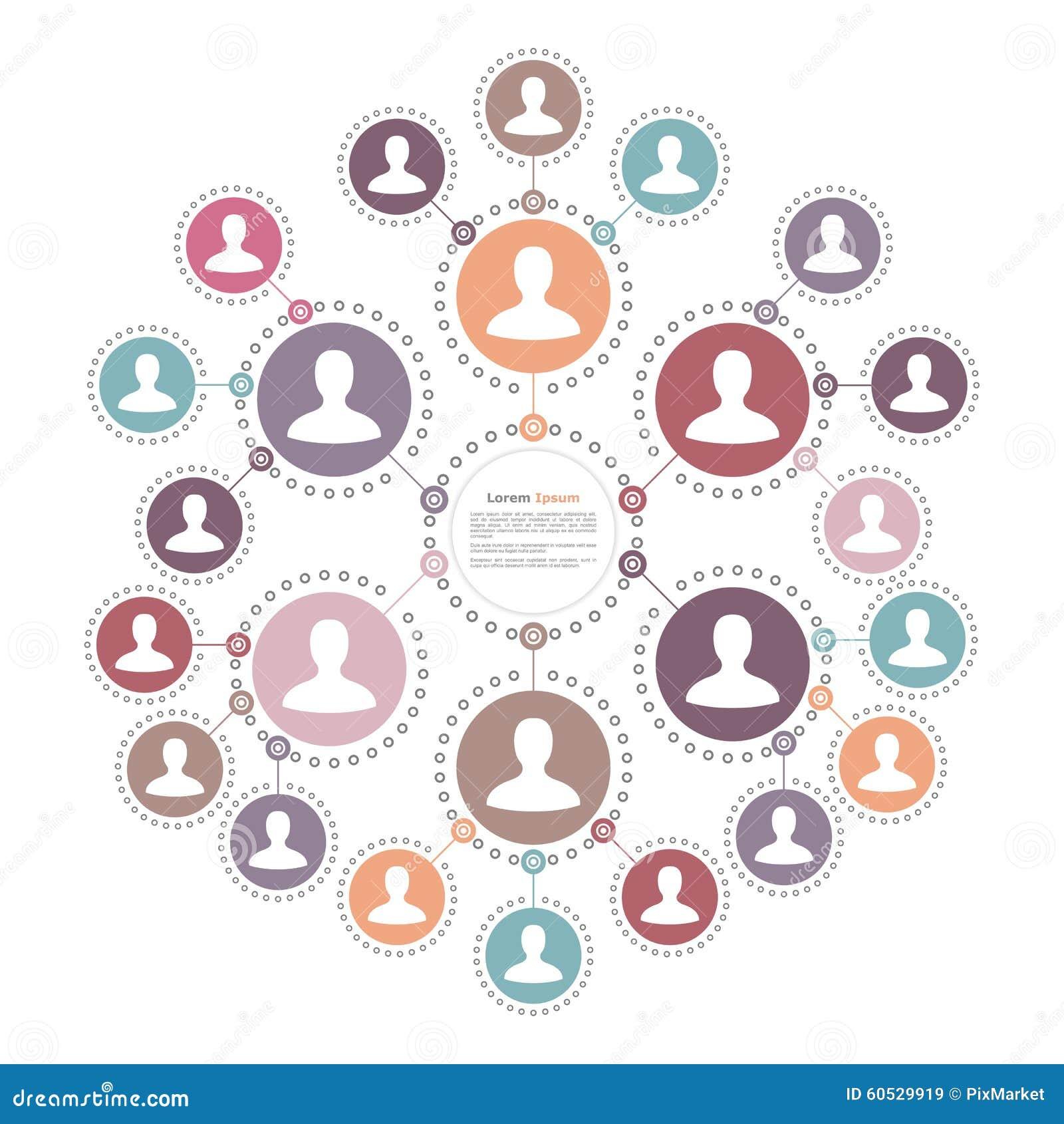 Leute-Netz-Konzept