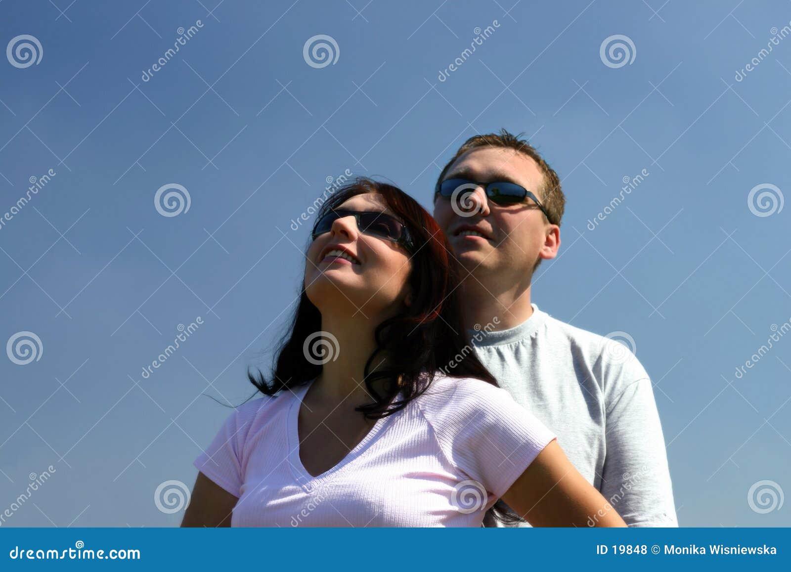 Leute - oben schauend