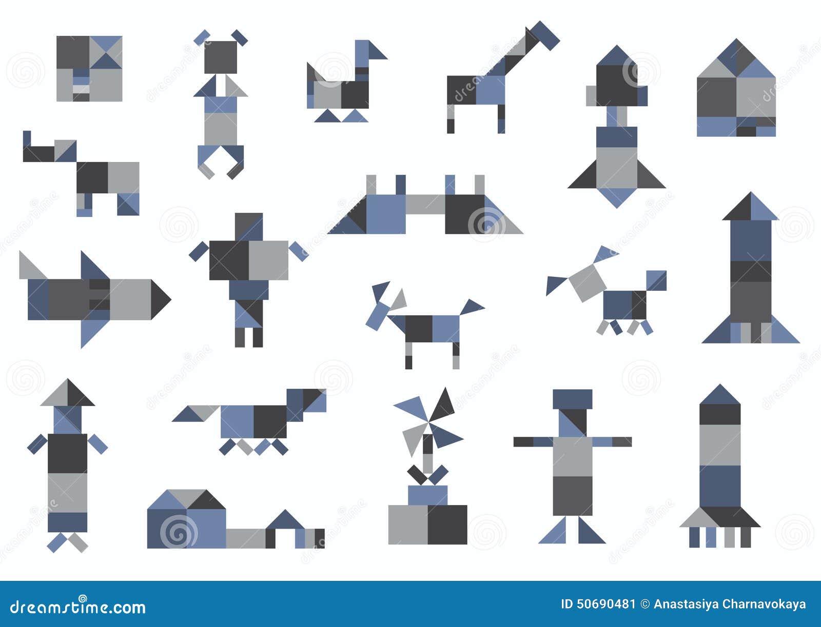 leute tiere h user transport geometrische formen vektor abbildung illustration von haus. Black Bedroom Furniture Sets. Home Design Ideas