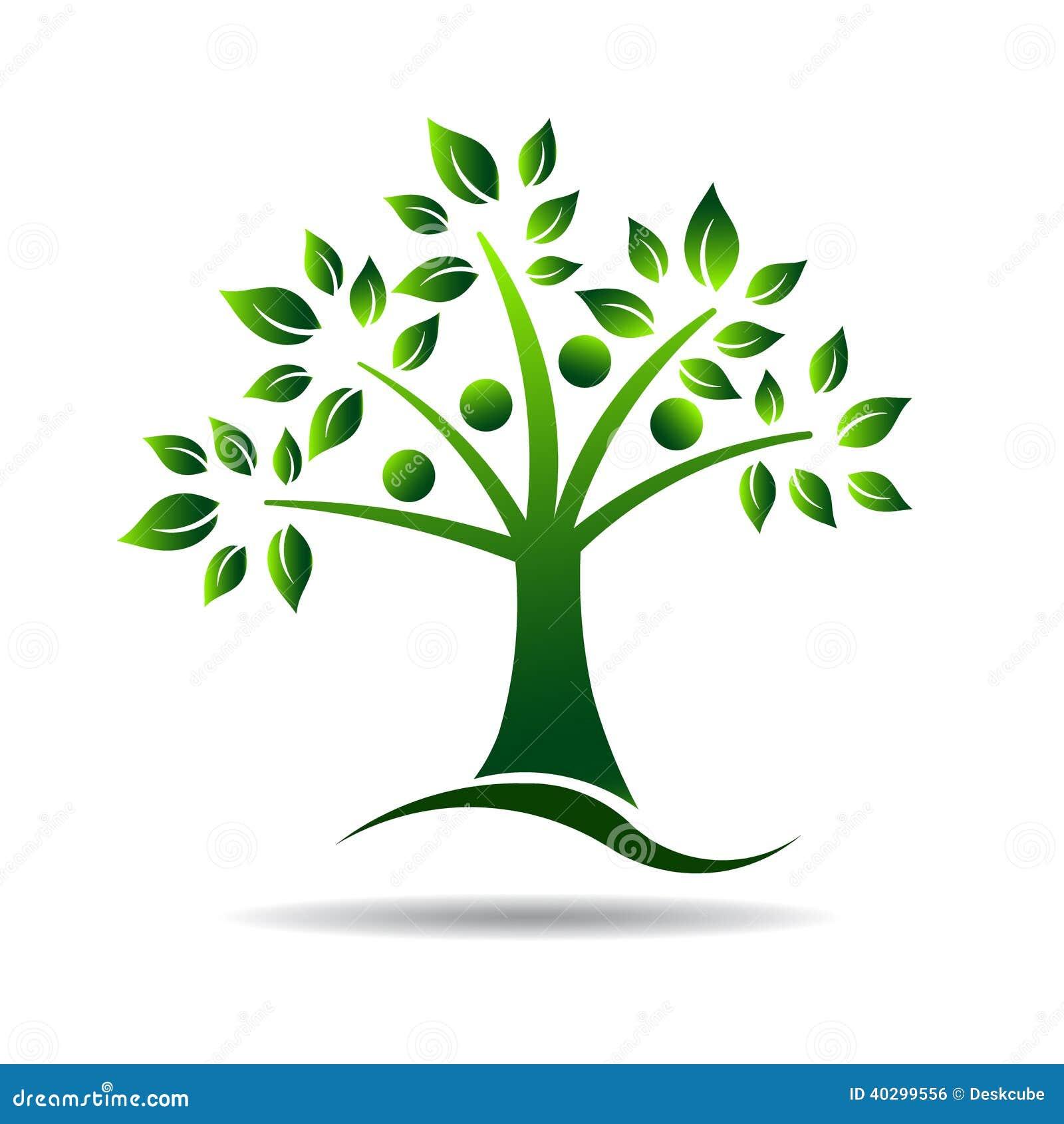 Leutebaumlogo. Konzept für Stammbaum, natürlich