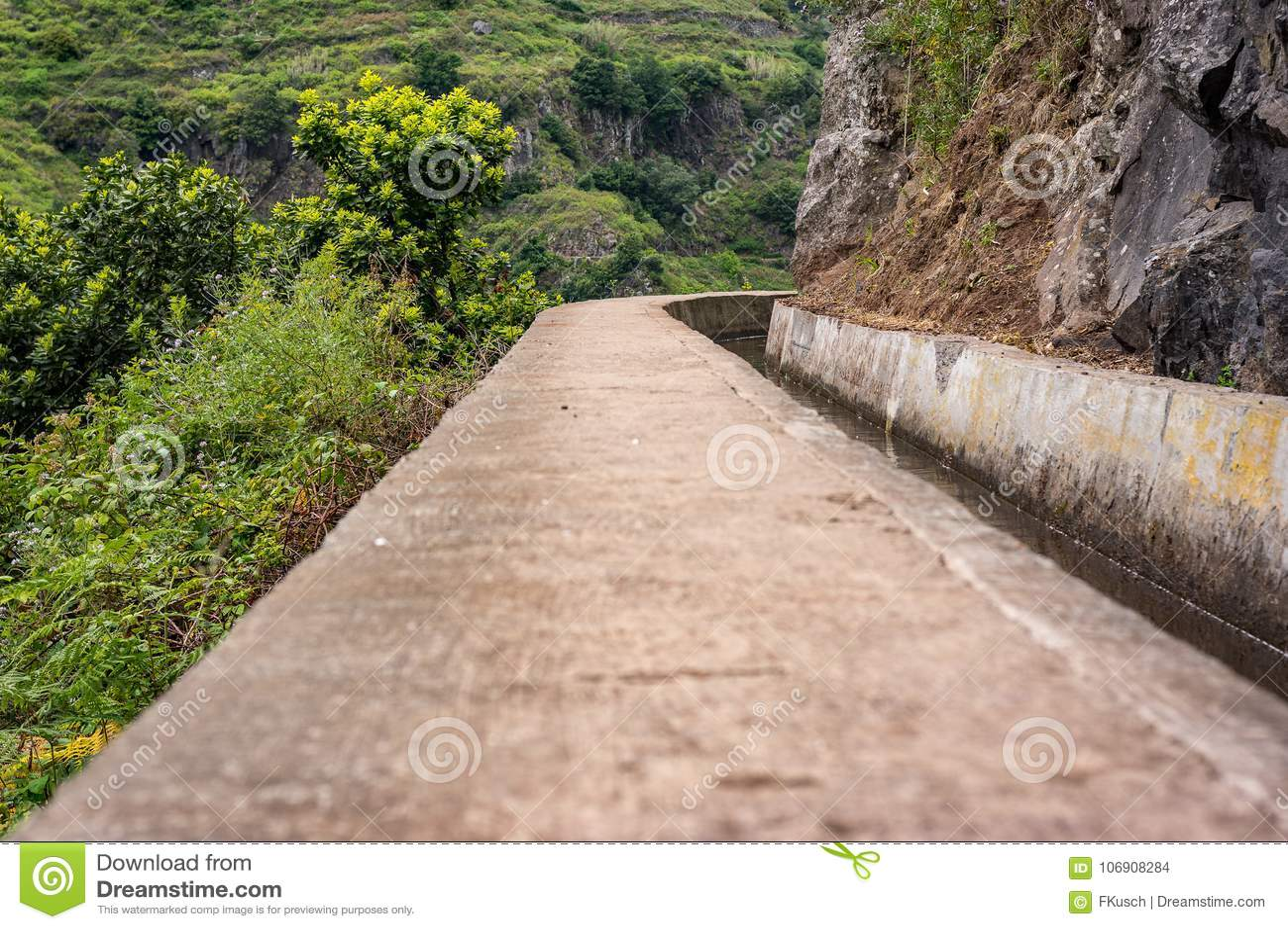 Levada ścieżka na maderze, Portugalia