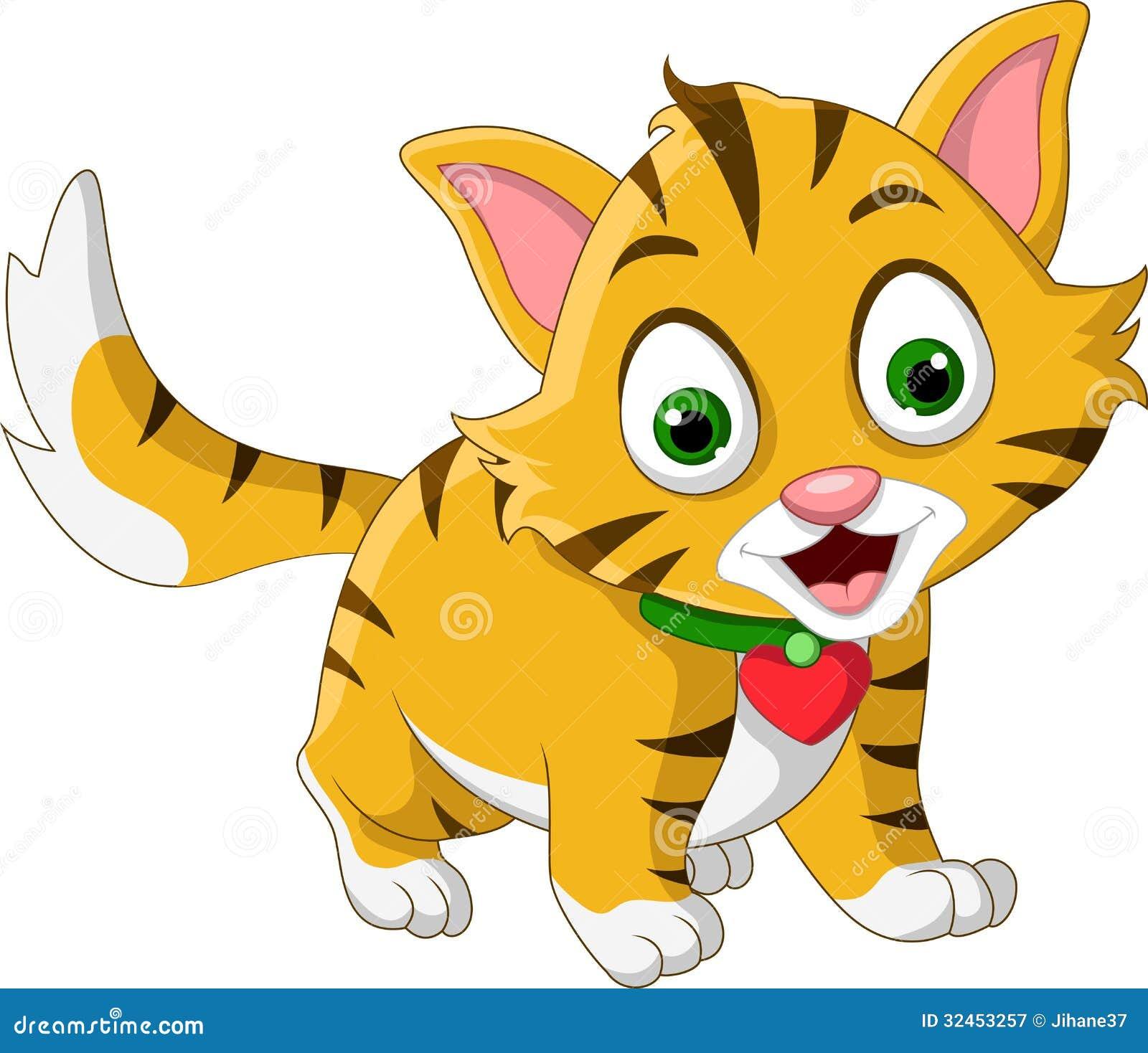 Levantamento Pequeno Bonito Dos Desenhos Animados Do Gato