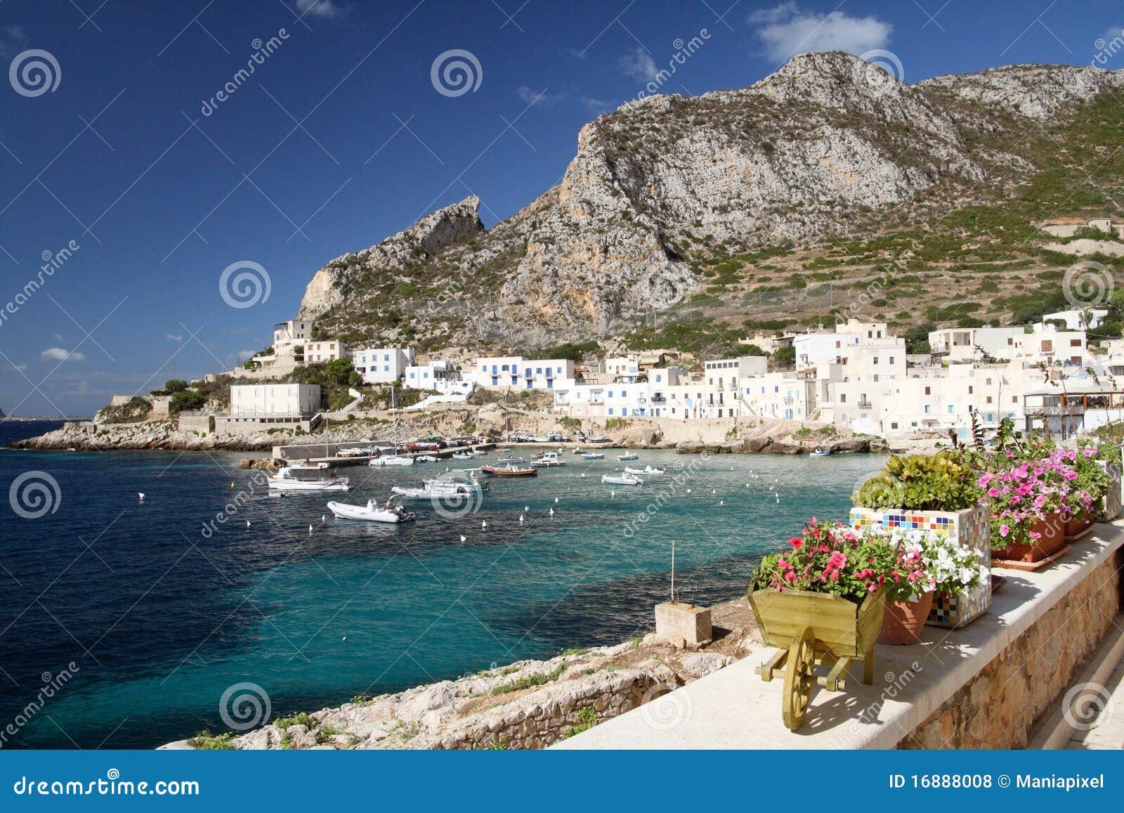 Levanzo Egadi islands stock photo. Image of tourism, town - 16888008