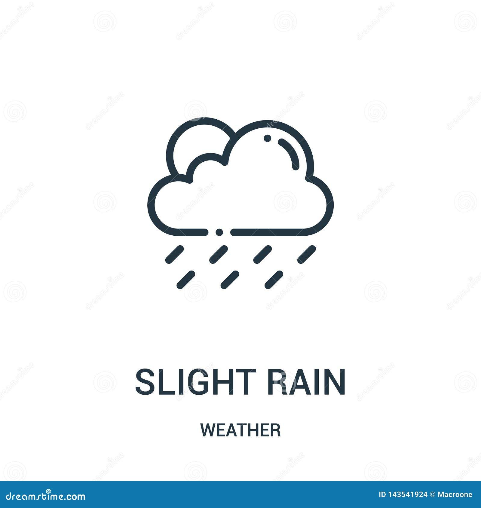 Leve vetor do ?cone da chuva da cole??o do tempo Linha fina leve ilustra??o do vetor do ?cone do esbo?o da chuva