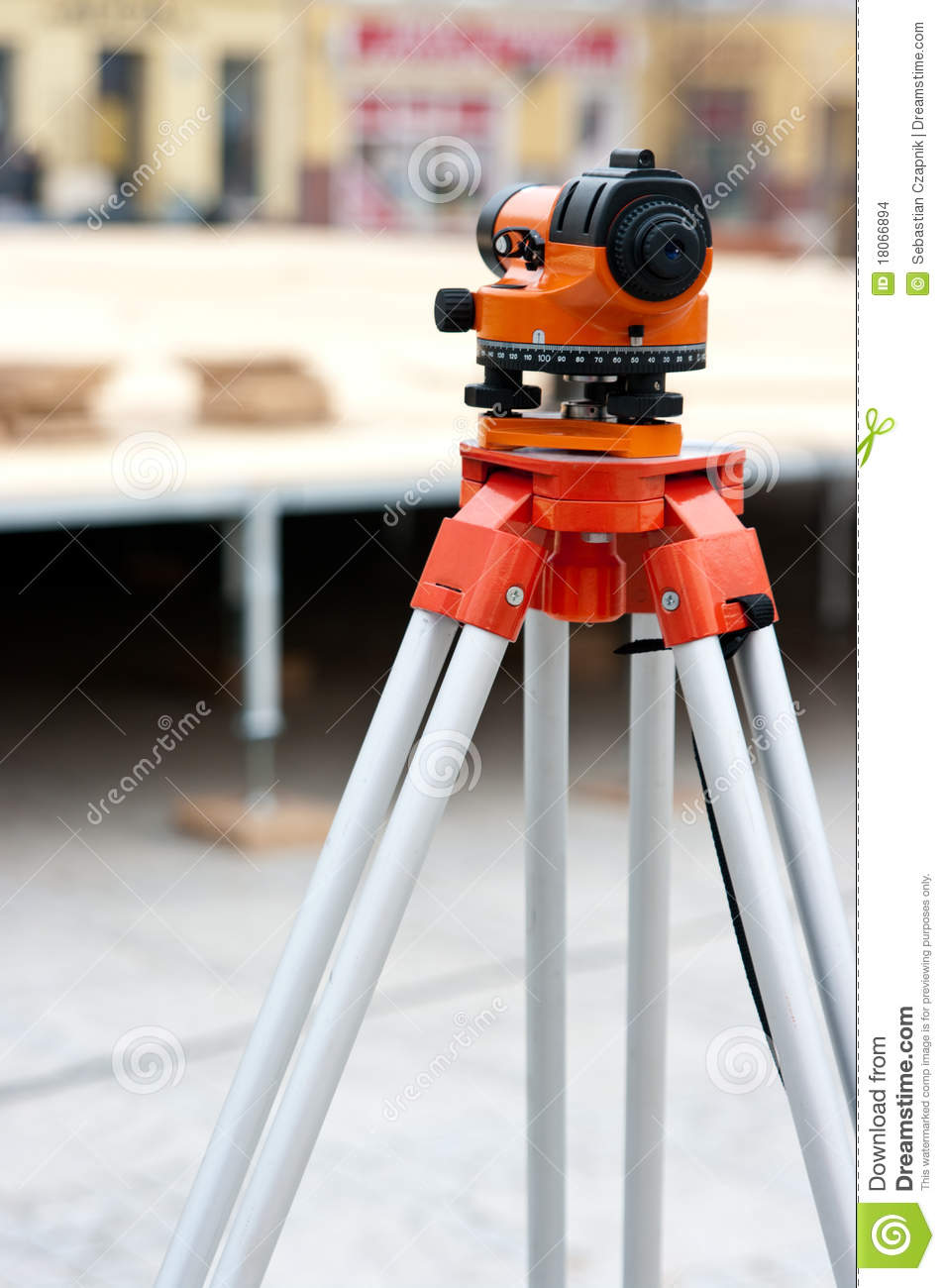 Levelling Instrument Stock Photo Image Of Industry Stand