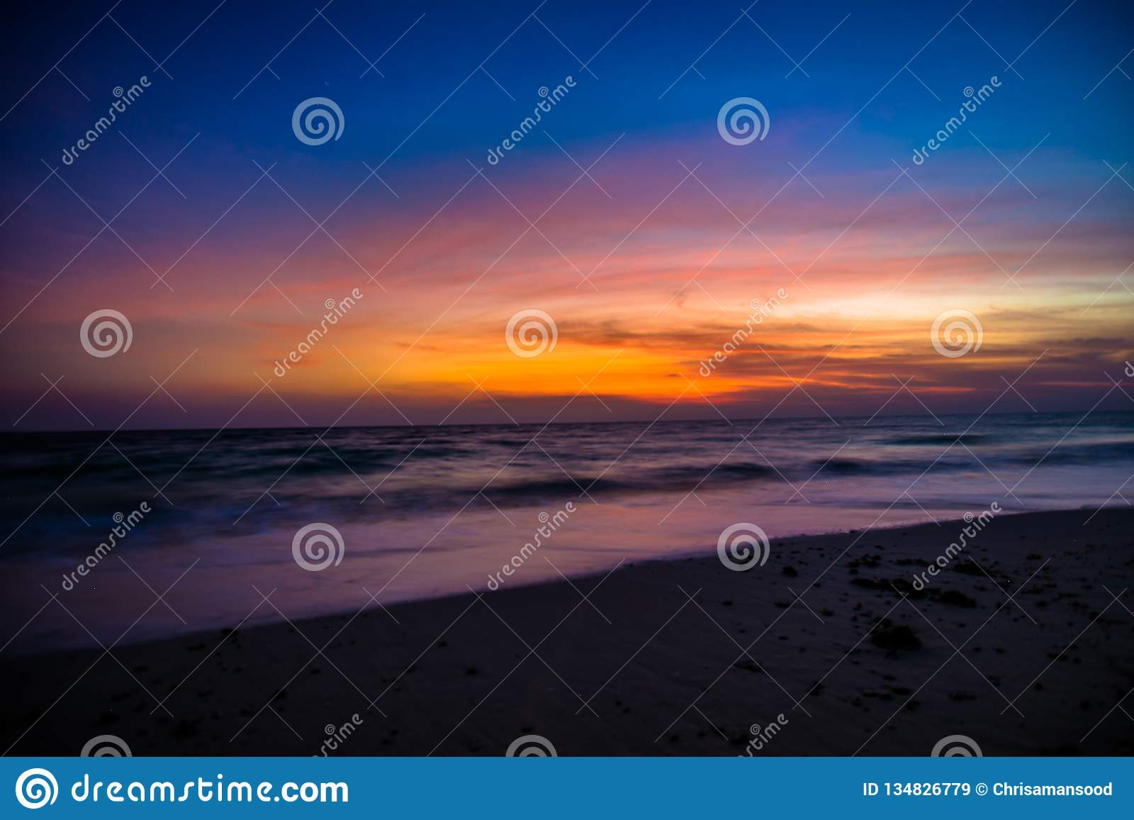 Lever de soleil à l île de Havelock