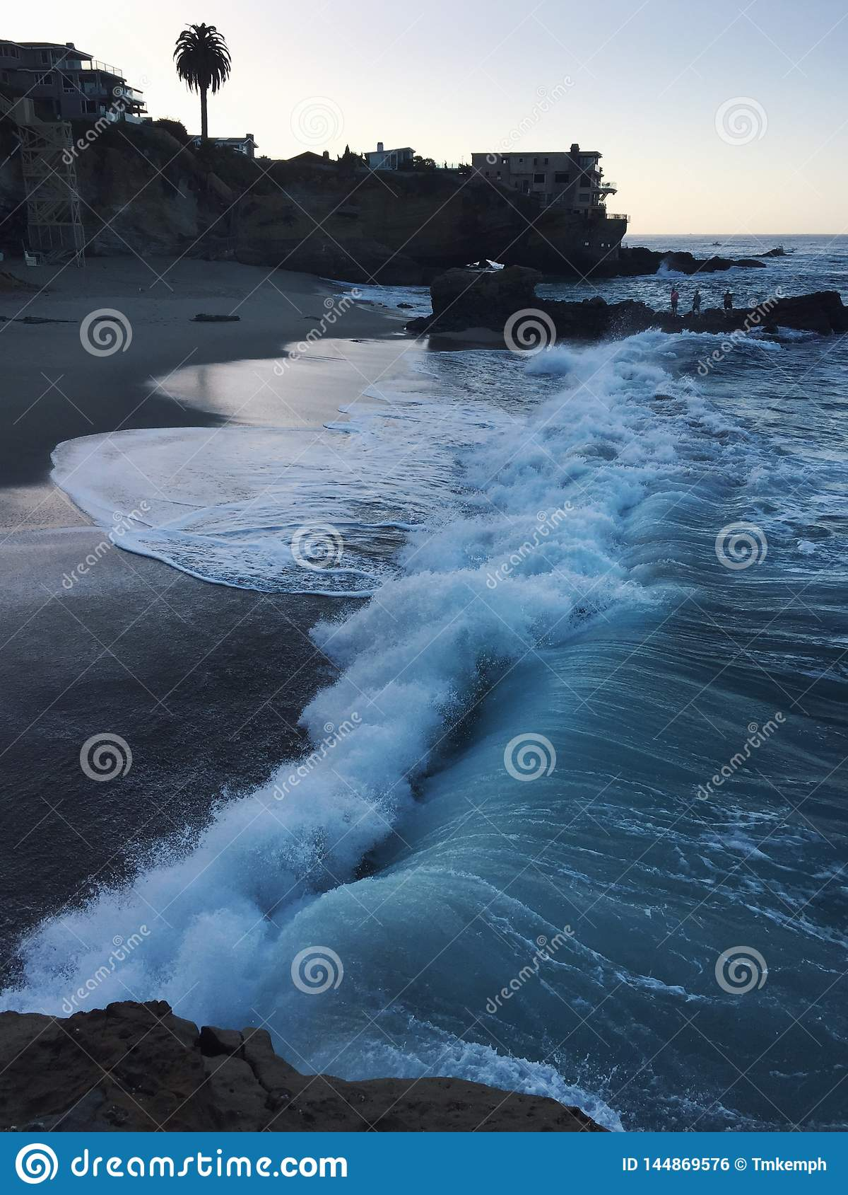 Lever de soleil à la plage en Californie