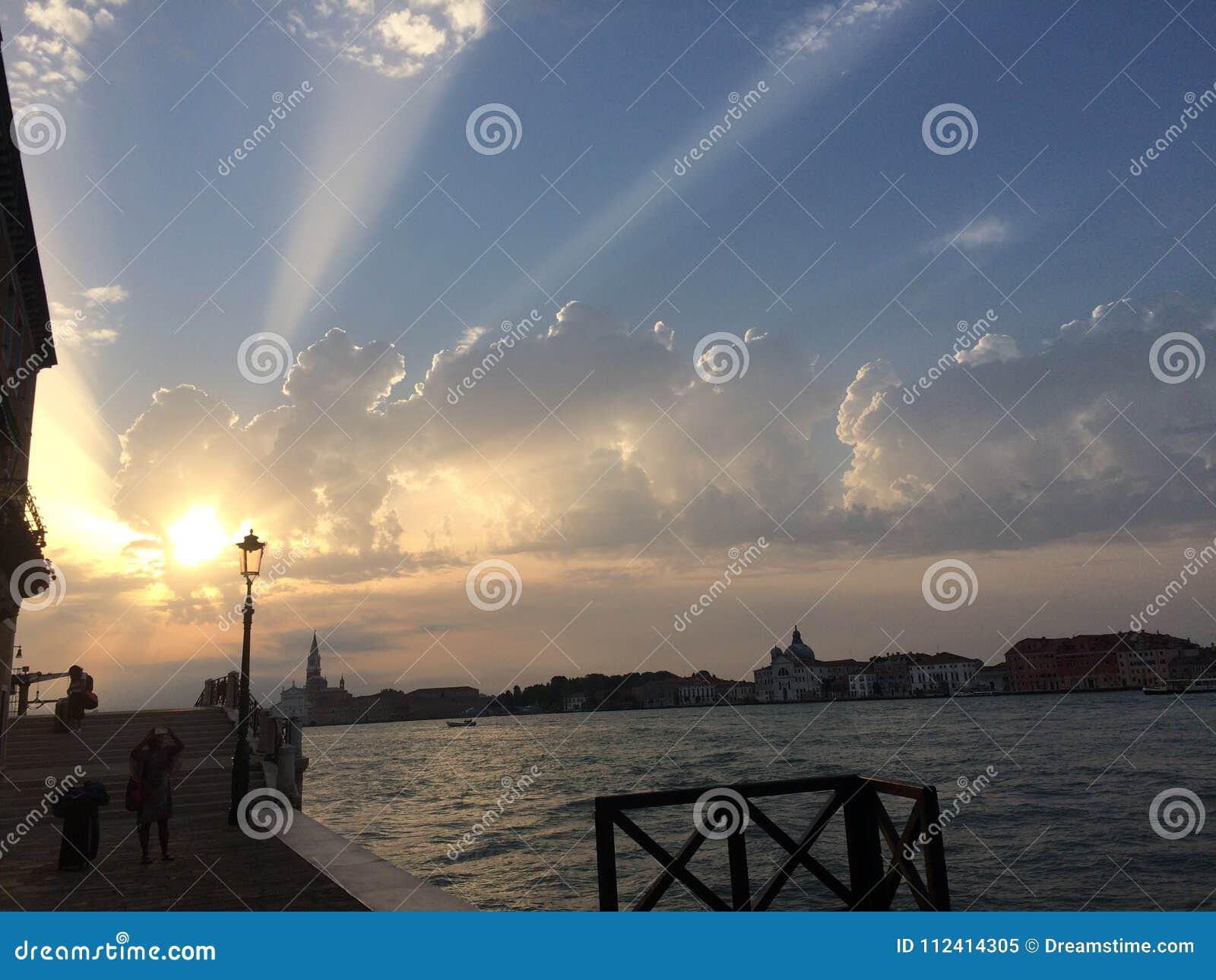 Lever de soleil à Venise, Venezia, Italie
